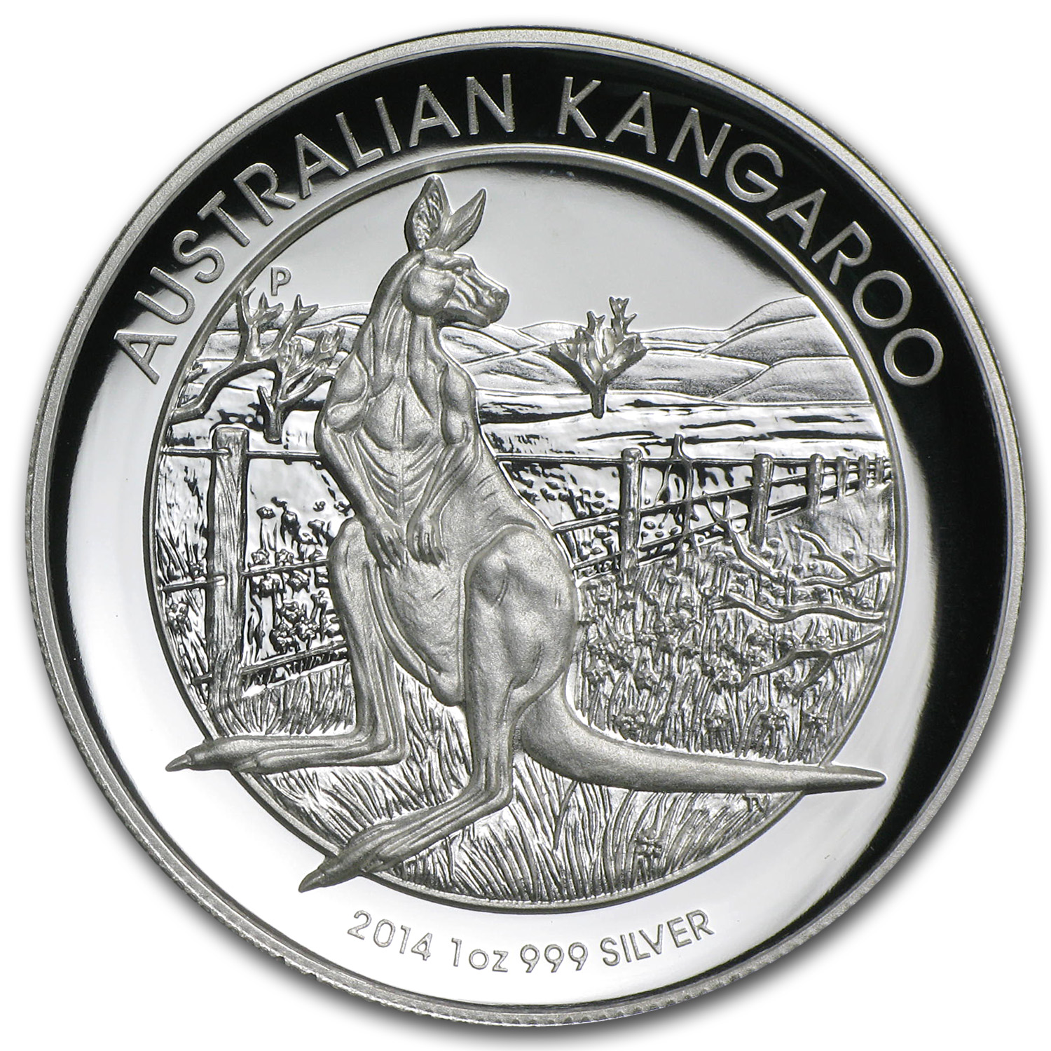 2014 Australia 1 oz Silver Kangaroo Proof (High Relief)