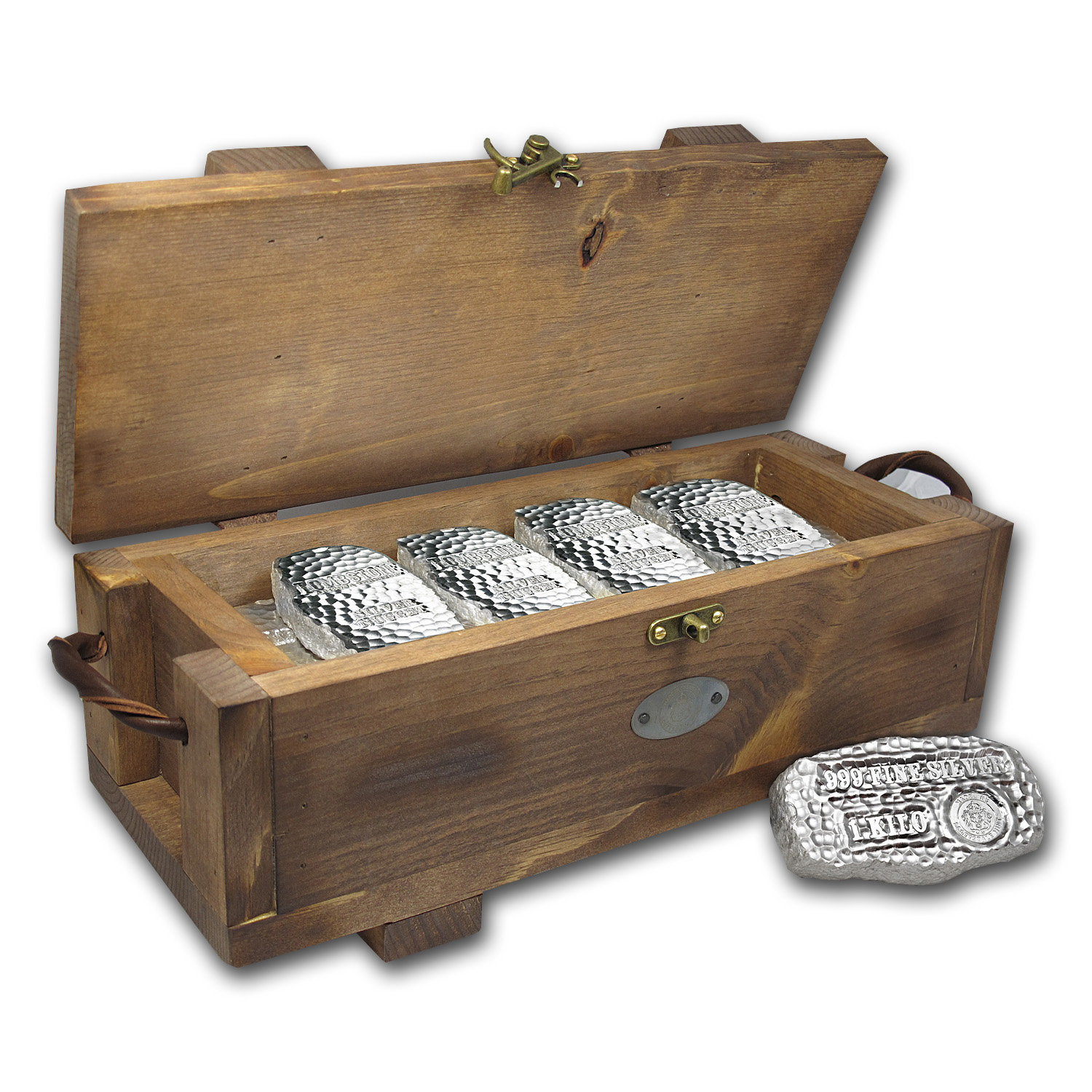 Tombstone Wood Storage Box for Silver Bars