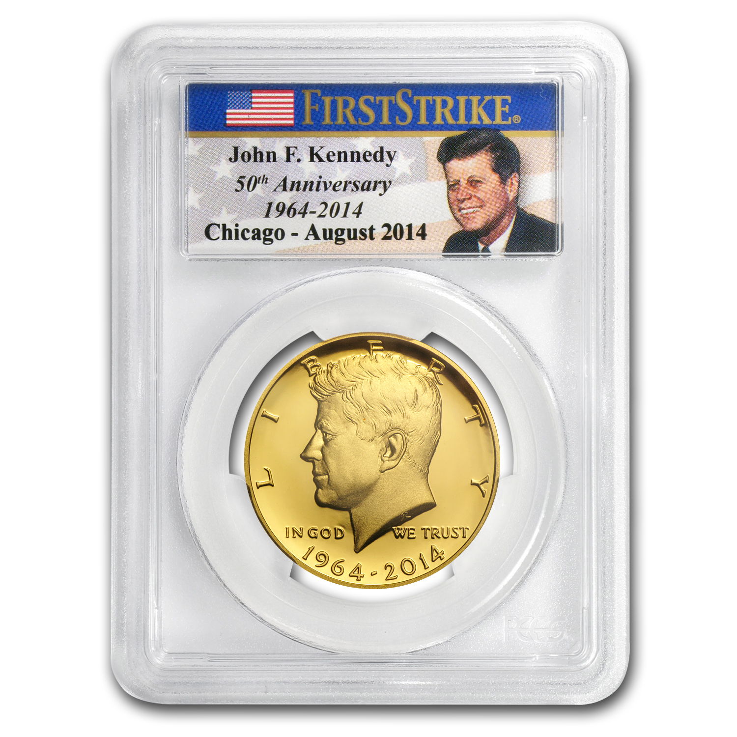 2014-W 3/4 oz Gold Kennedy Half Dollar PR-70 PCGS (FS, Chicago)