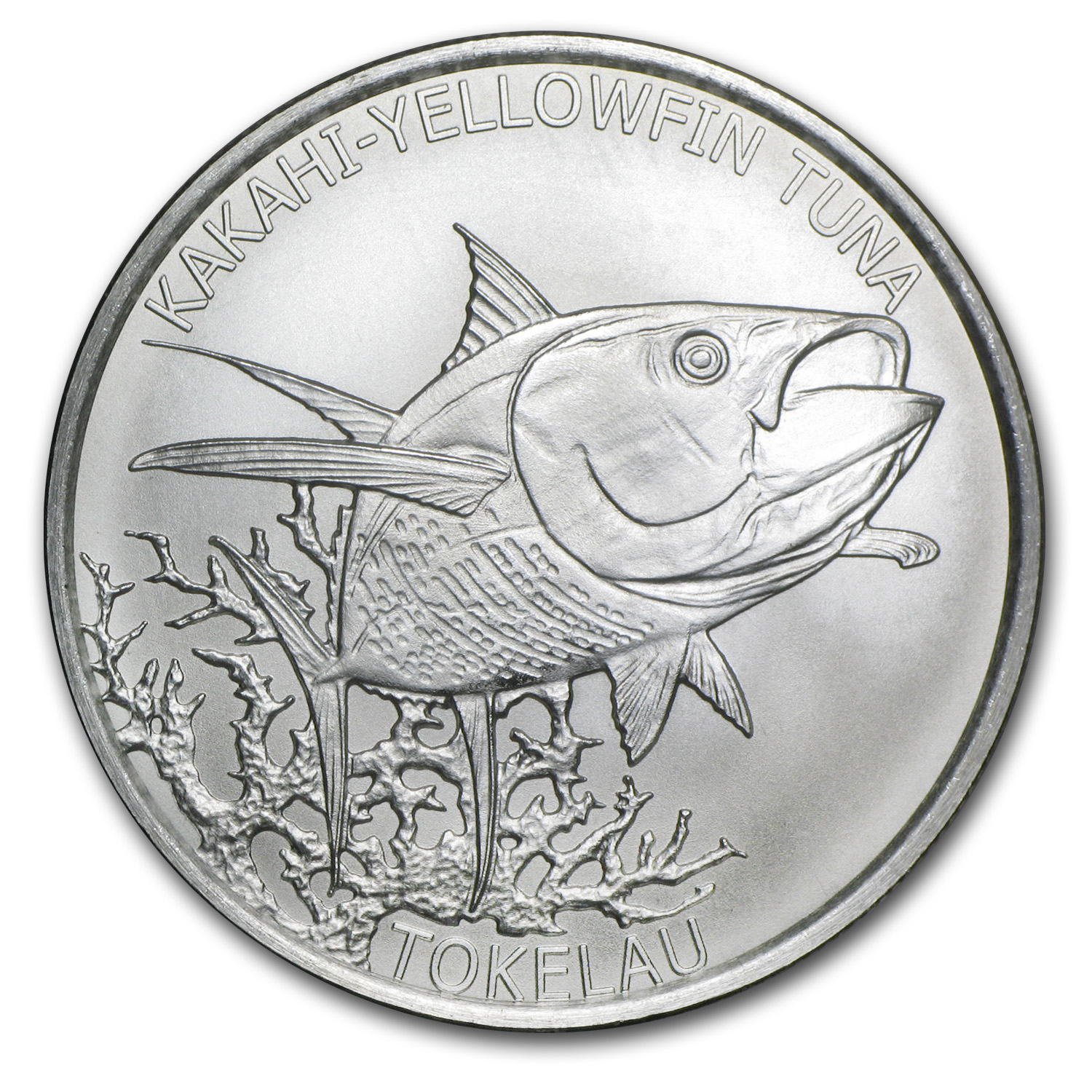 2014 1 oz Silver Tokelau $5 Yellowfin Tuna