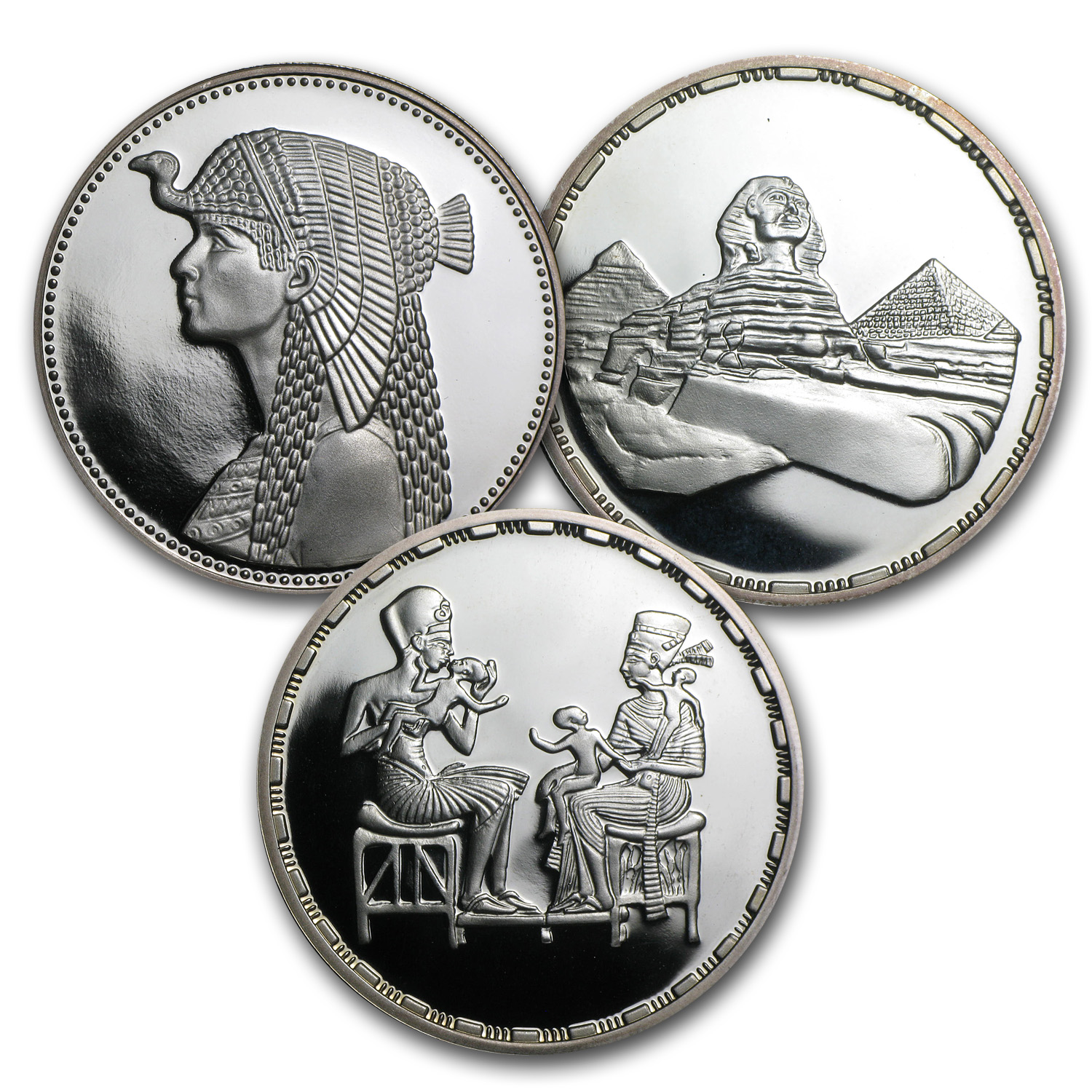 Egypt 1993-1994 Silver 5 Pound Ancient Egypt Proof