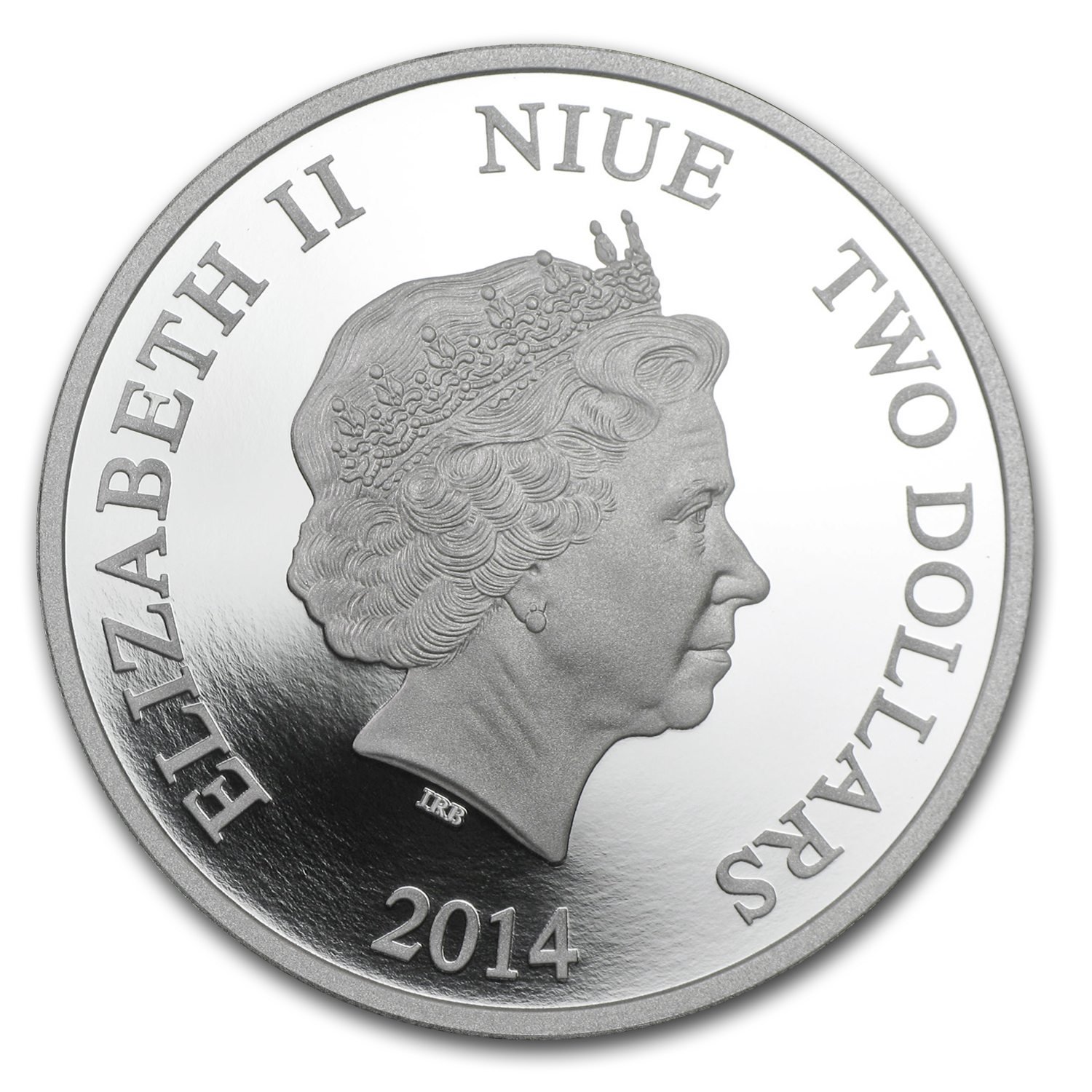 2014 Niue 1 oz Silver $2 Disney Donald Duck