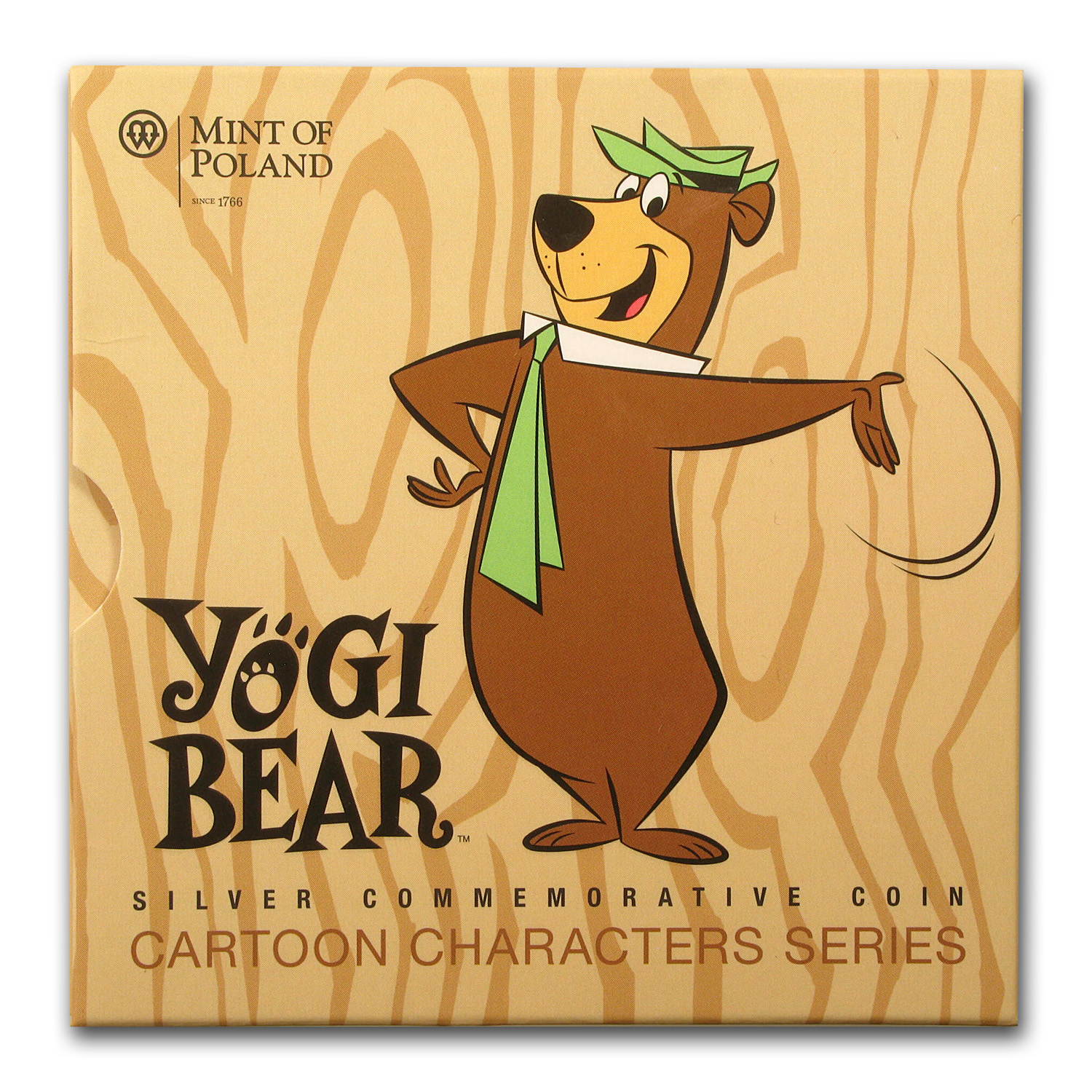 Niue 2014 Proof Silver $1 Cartoon Characters - Yogi Bear