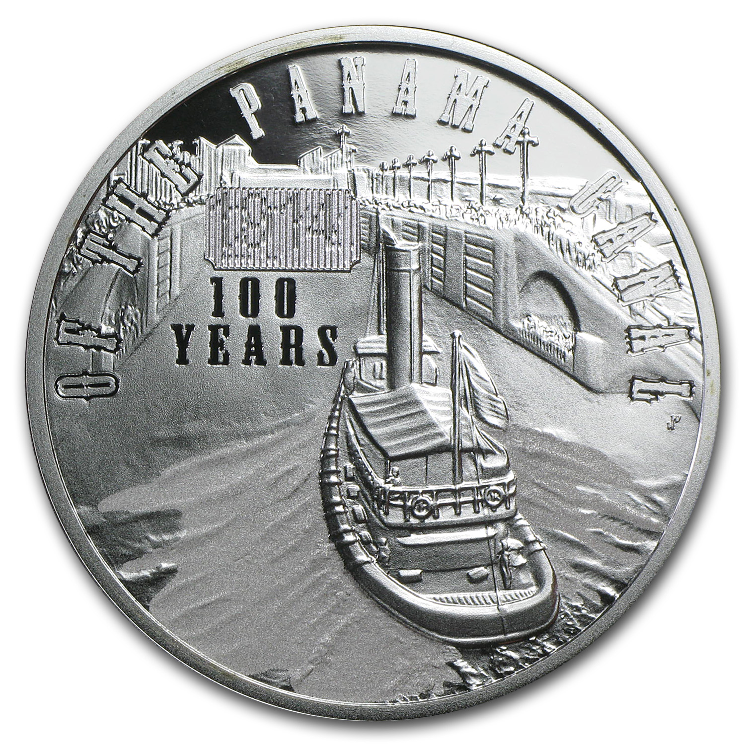 Niue 2014 Silver 100th Anniversary of the Panama Canal Proof