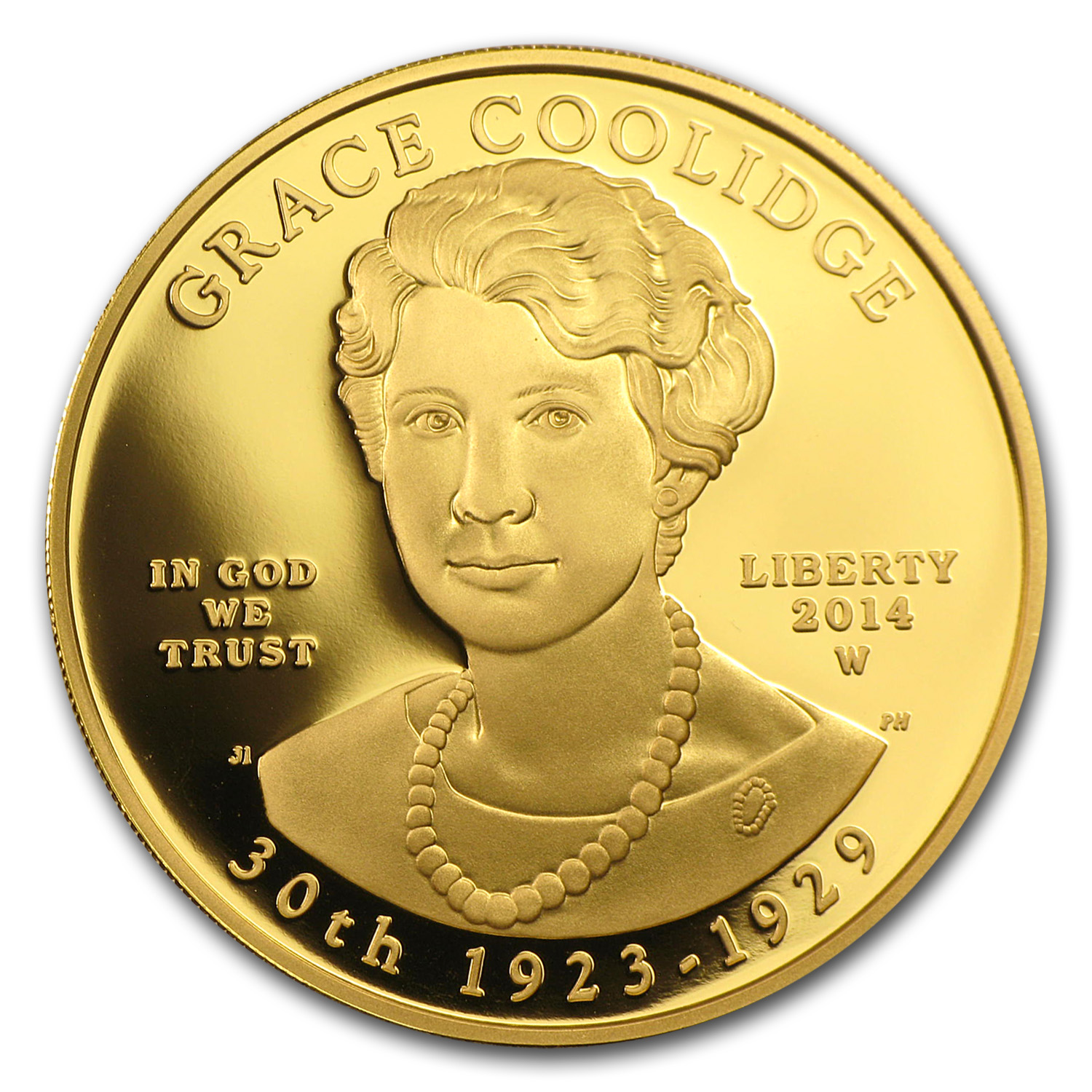 2014-W 1/2 oz Proof Gold Grace Coolidge (w/Box & COA)