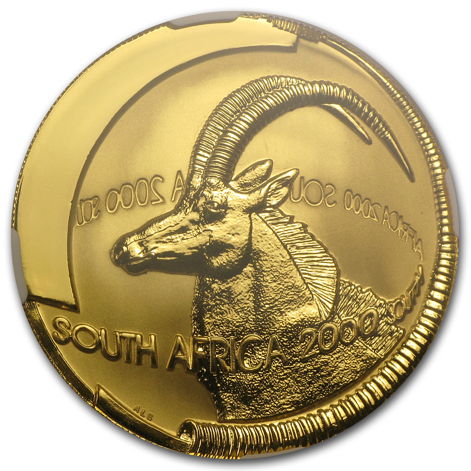 2000 1 oz Gold South African Natura (100 Rand Sable) PF-69 NGC