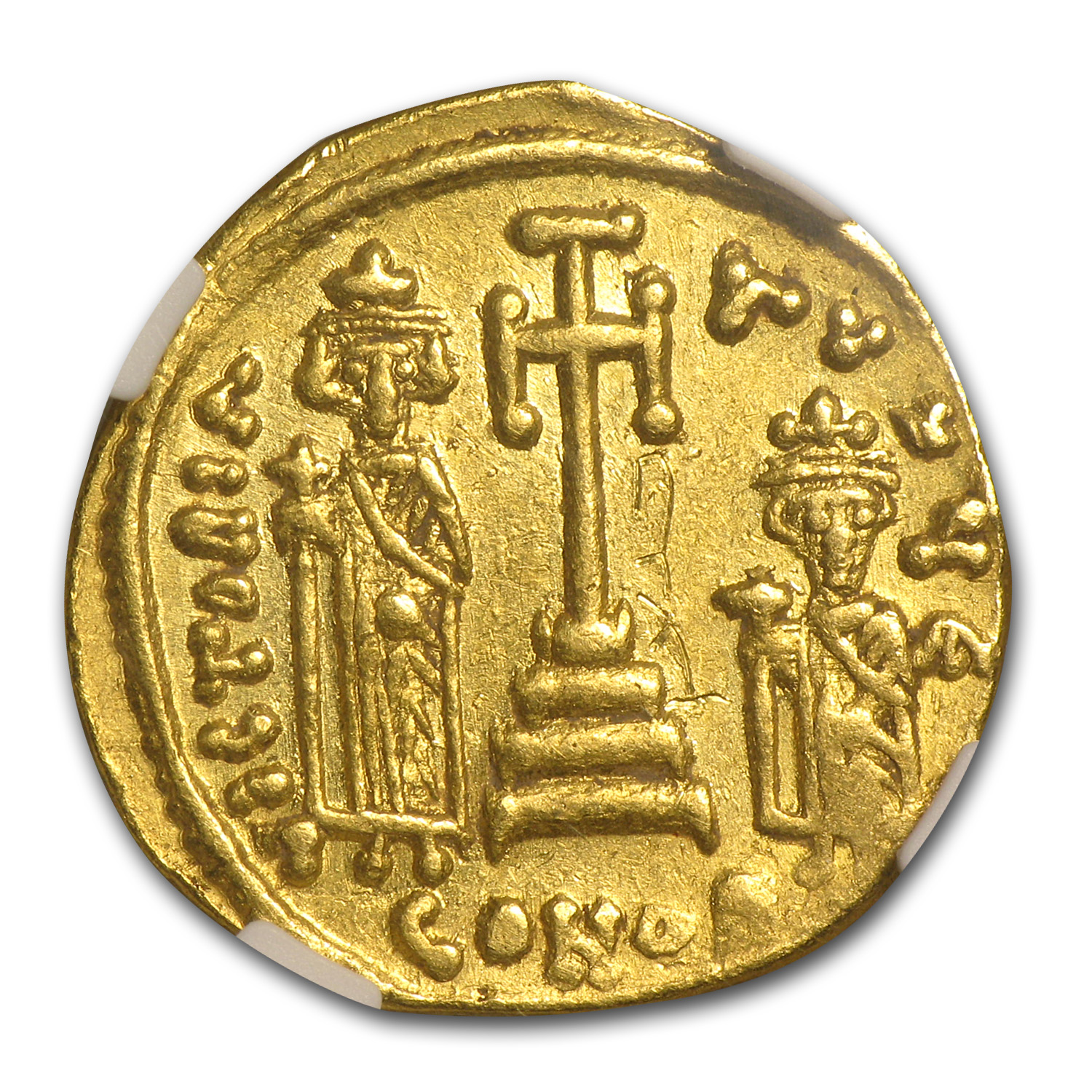 Byzantine Gold Constans II AU NGC (641-668AD)