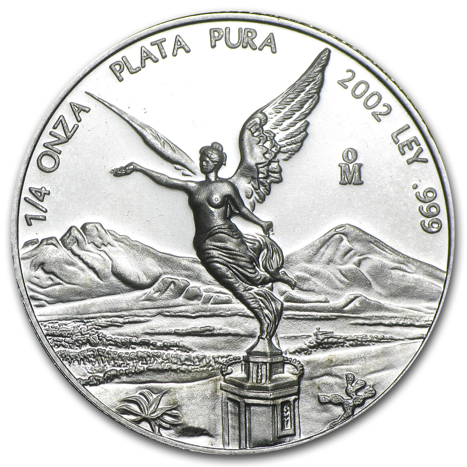 2002 1/4 oz Silver Mexican Libertad Brilliant Uncirculated