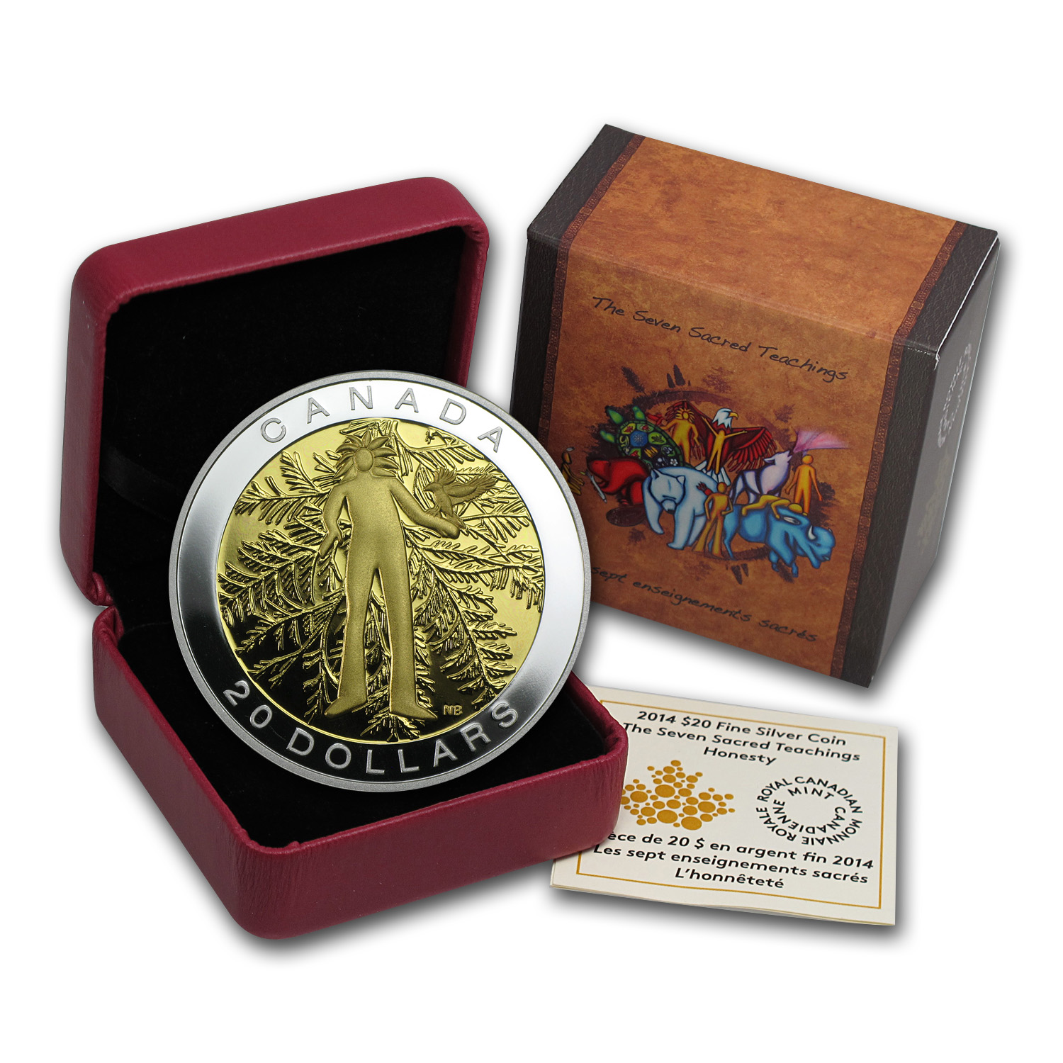 2014 Canada 1 oz Silver The Seven Sacred Teachings Honesty