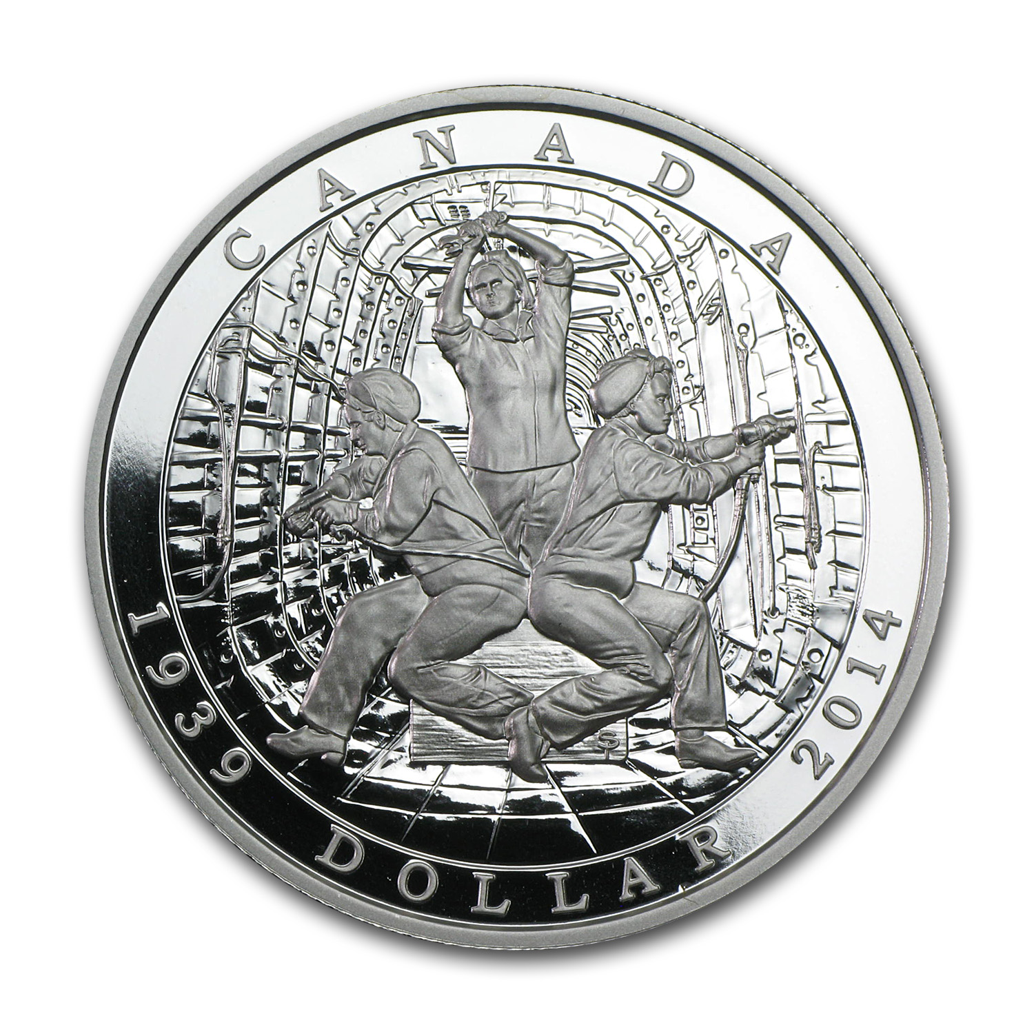 2014 Canada Silver 75th Anniv. of the Declaration of WWII Proof