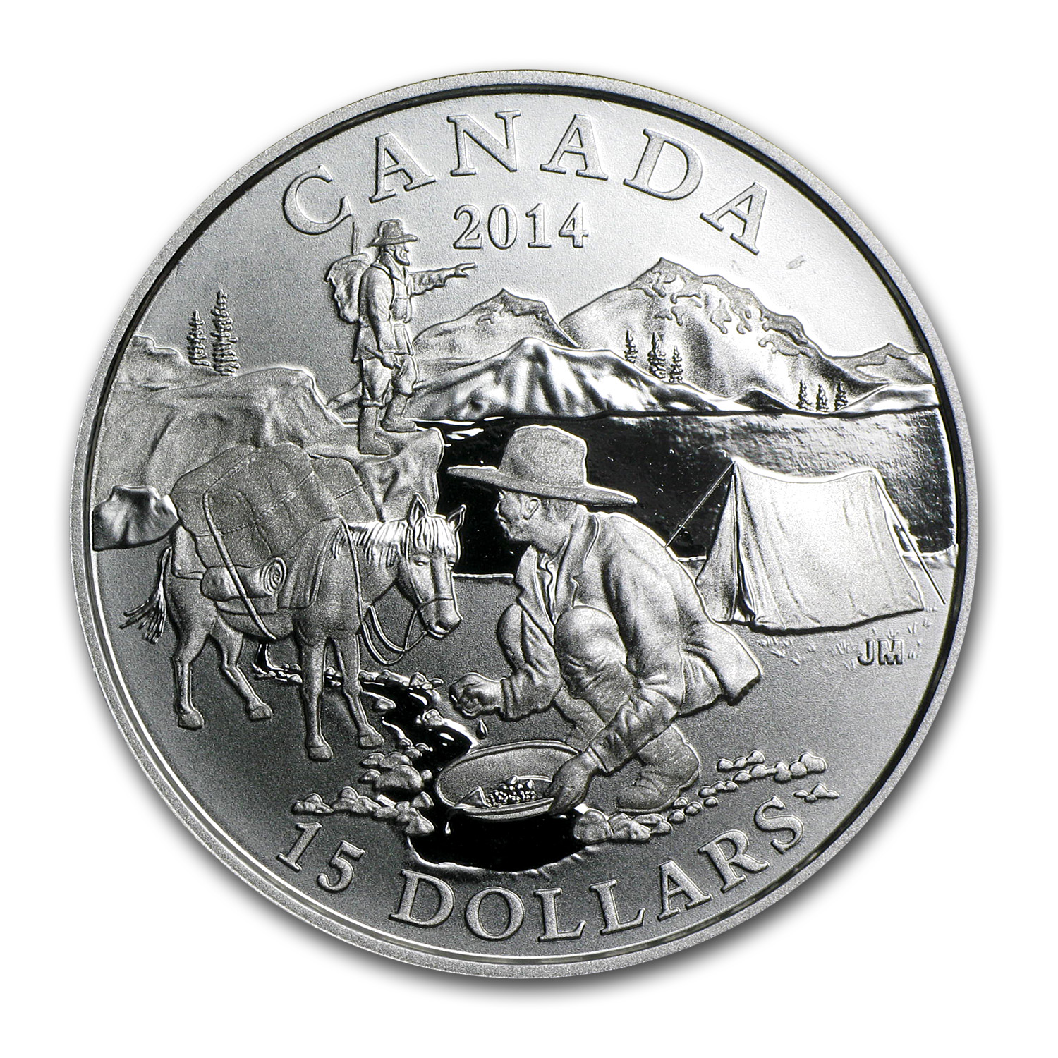 2014 Silver Canadian $15 Exploring Canada - The Gold Rush