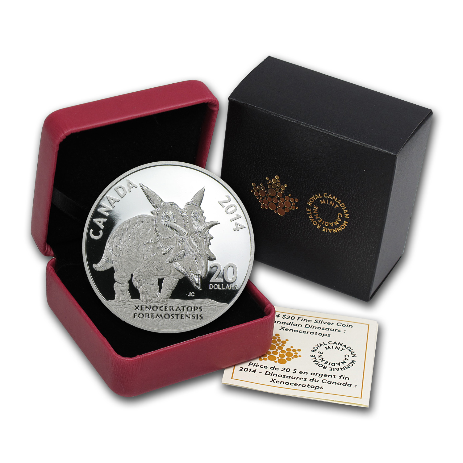 2014 1 oz Silver Dinosaurs of Canada Xenoceratops Foremostensis