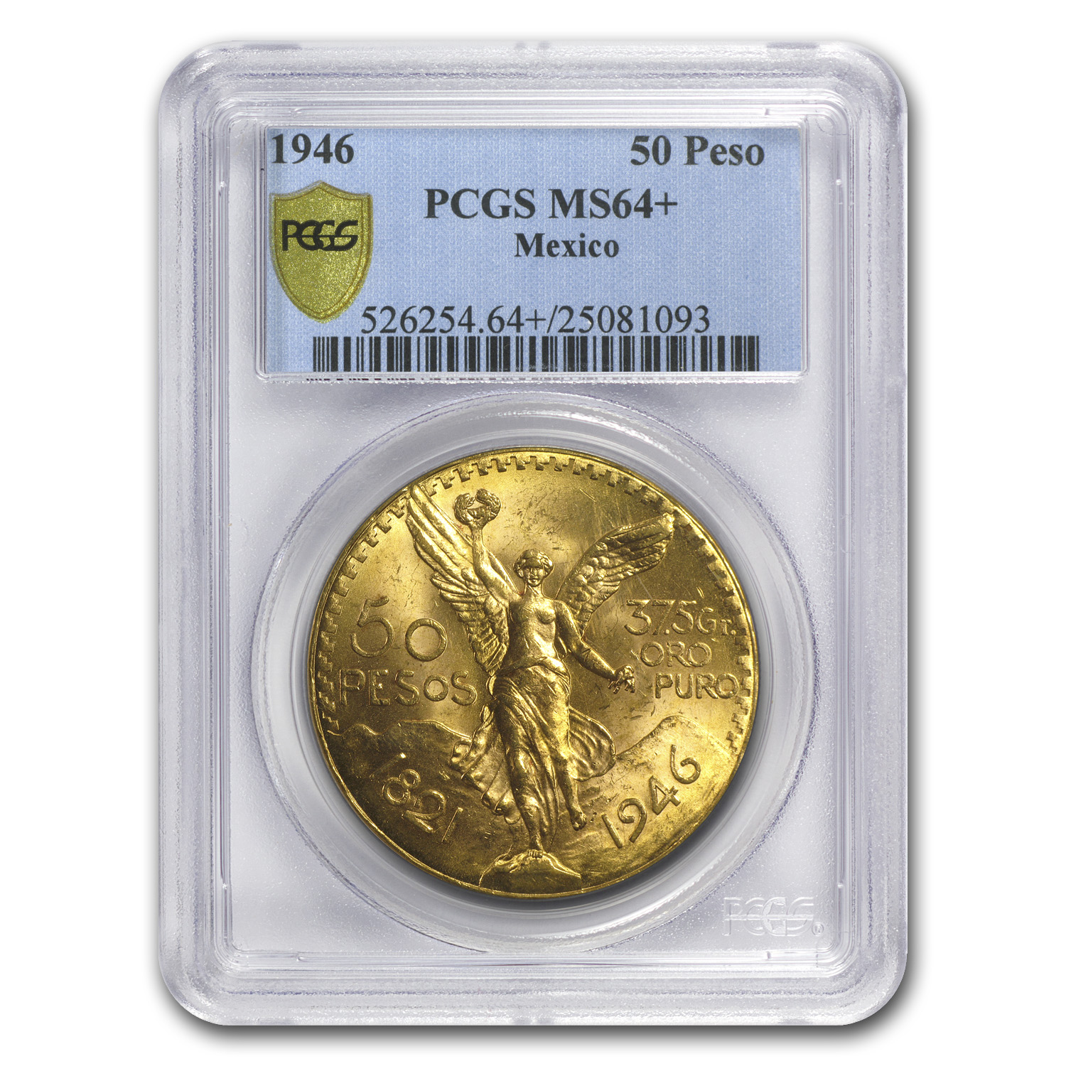 1946 Mexico 50 Pesos Gold MS-64+ PCGS
