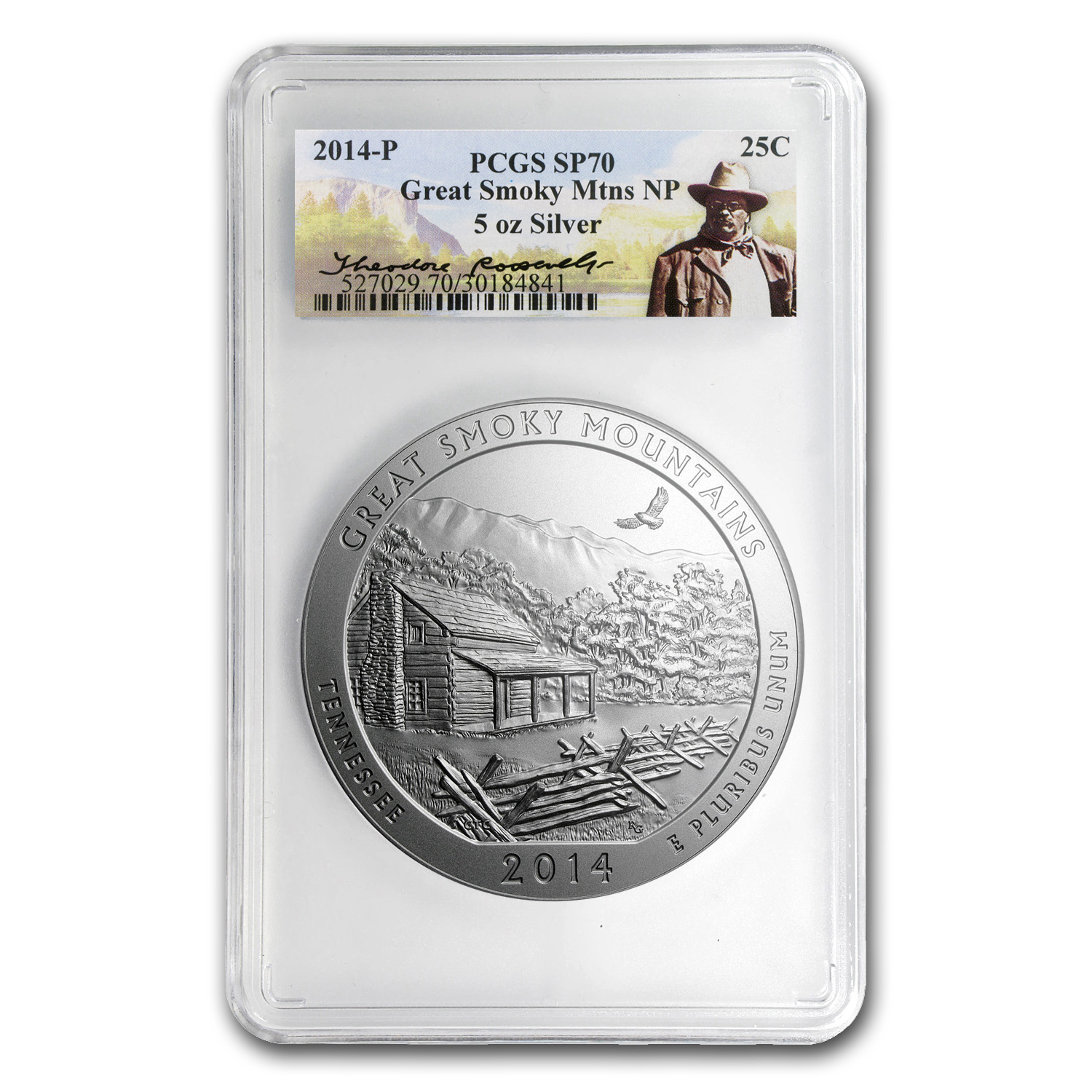 2014-P 5 oz Silver ATB Great Smoky Mtns SP-70 PCGS (Roosevelt)