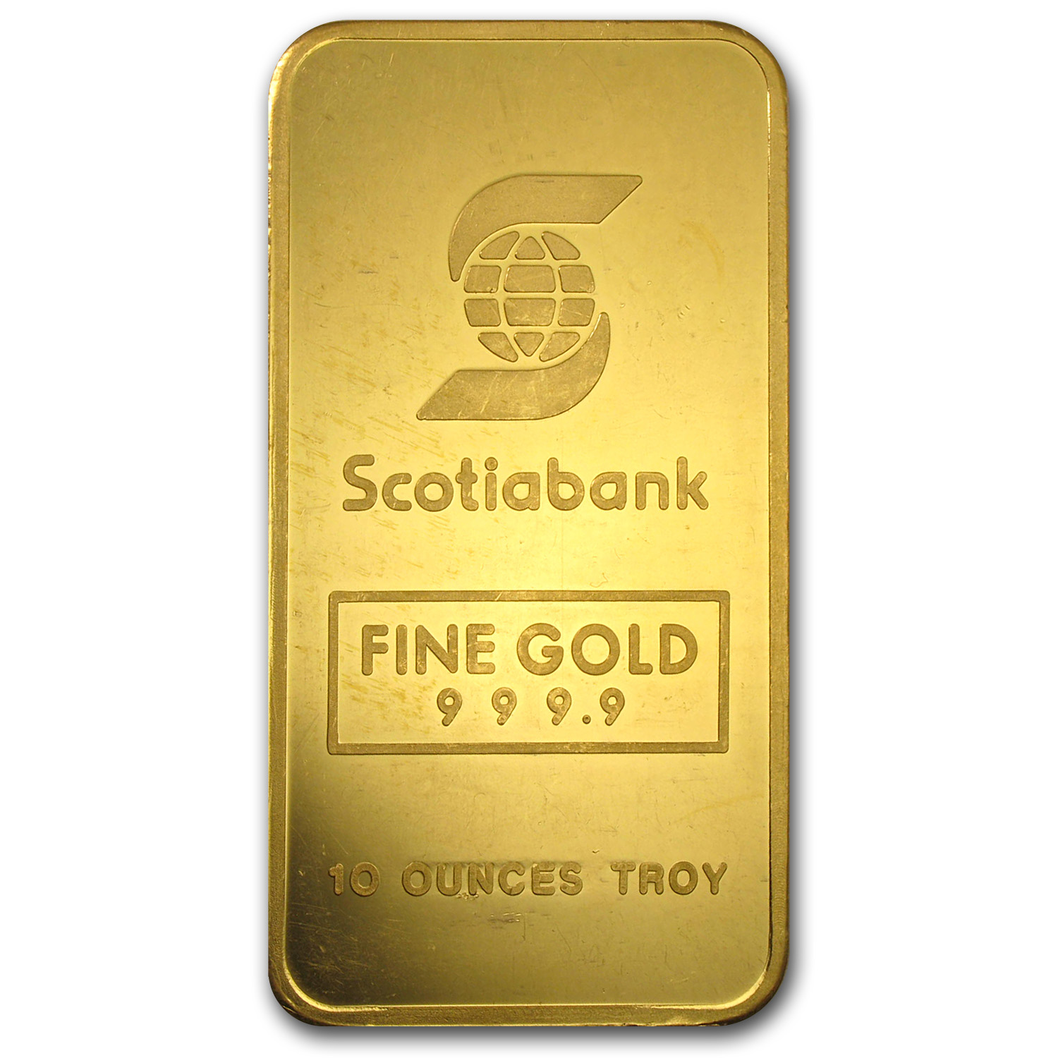 10 oz Gold Bars - Engelhard (Scotiabank, Maple)