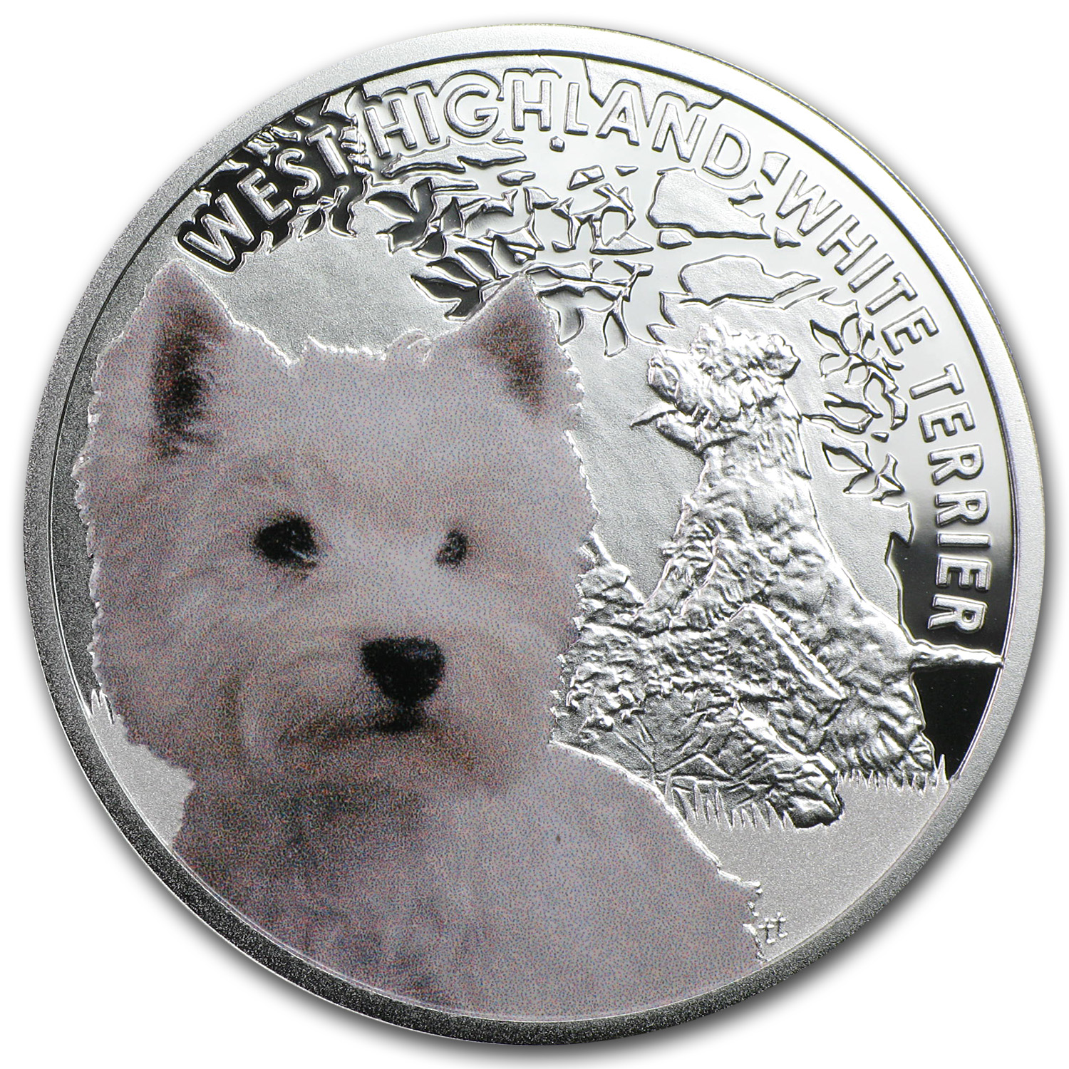 2014 Niue Silver Man's Best Friends Dogs Highland White Terrier
