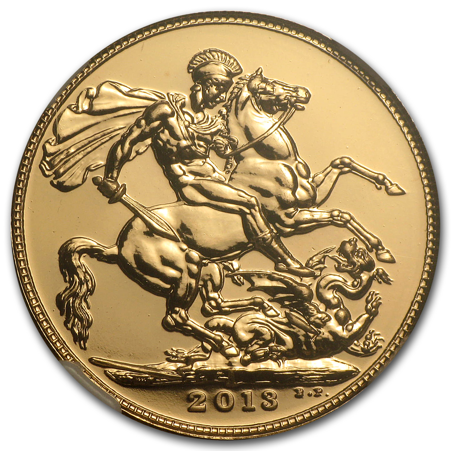 2013 India Gold Sovereign MS-70 NGC