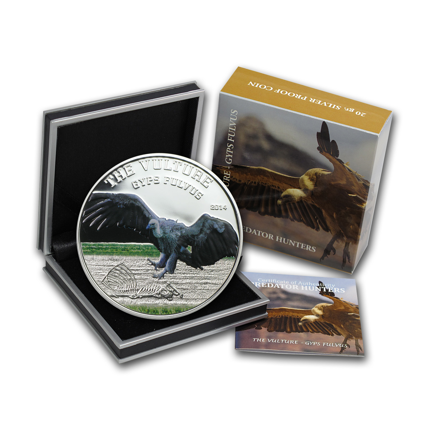 2014 Tanzania 1 oz Silver Predator Hunters The Vulture Proof