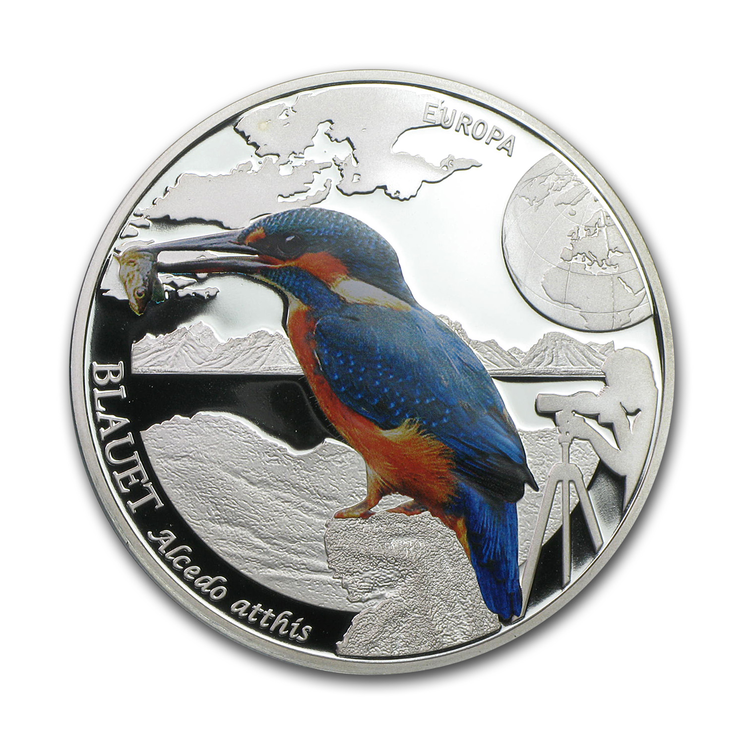 Andorra 2014 1/2 oz Silver Proof Colorful Birds (Kingfisher)