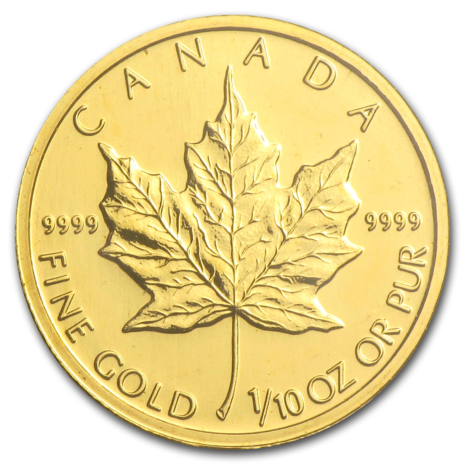 2002 Canada 1/10 oz Gold Maple Leaf BU