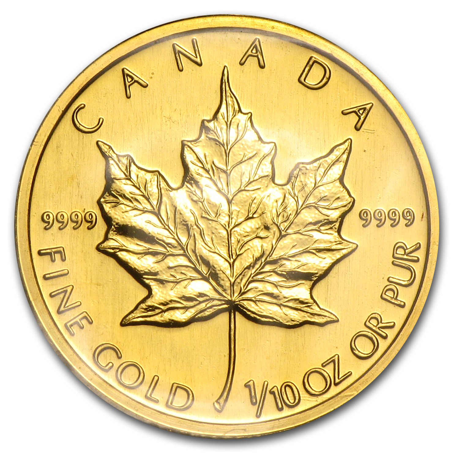 1991 Canada 1/10 oz Gold Maple Leaf BU