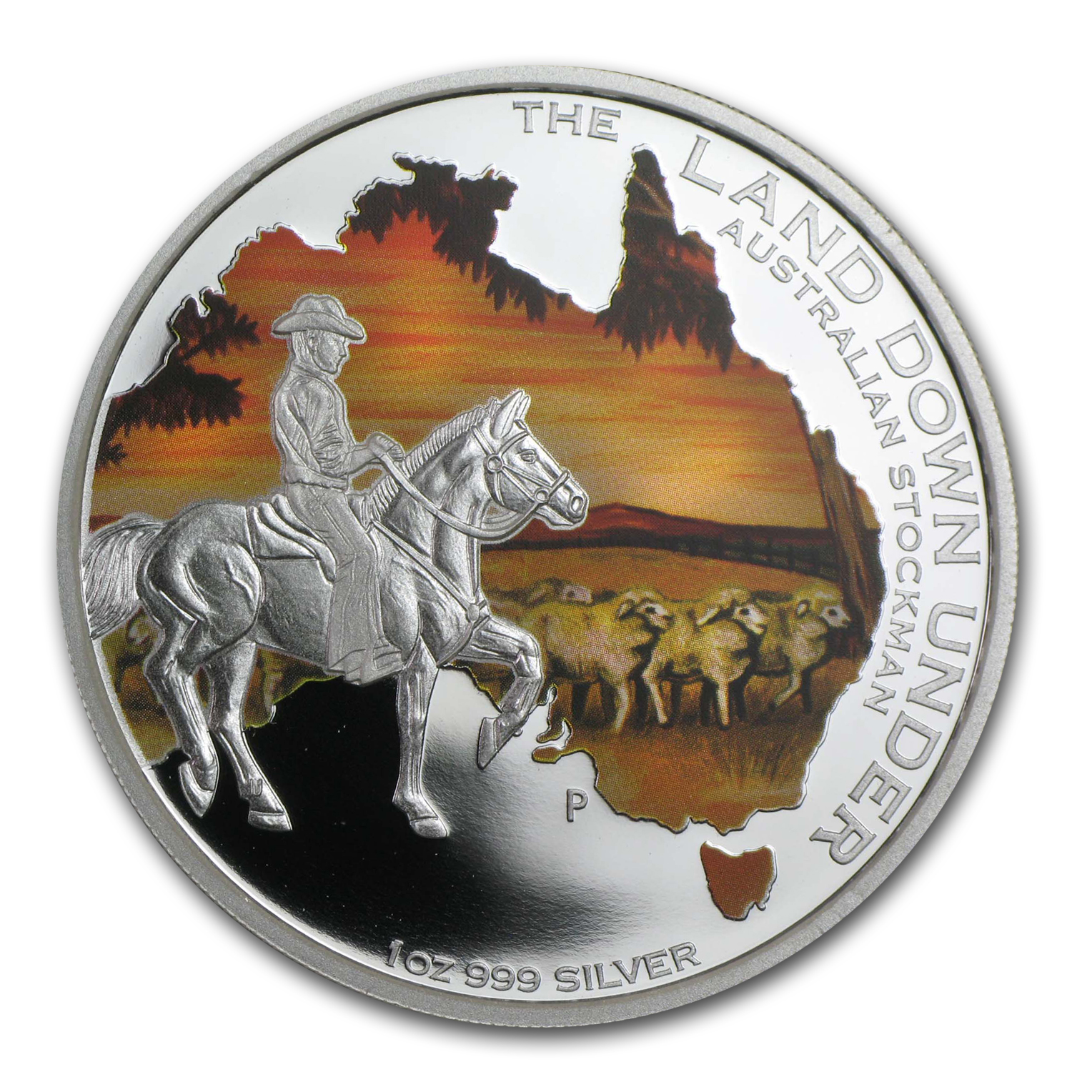 2014 1 oz Silver The Land Down Under Australian Stockman Proof