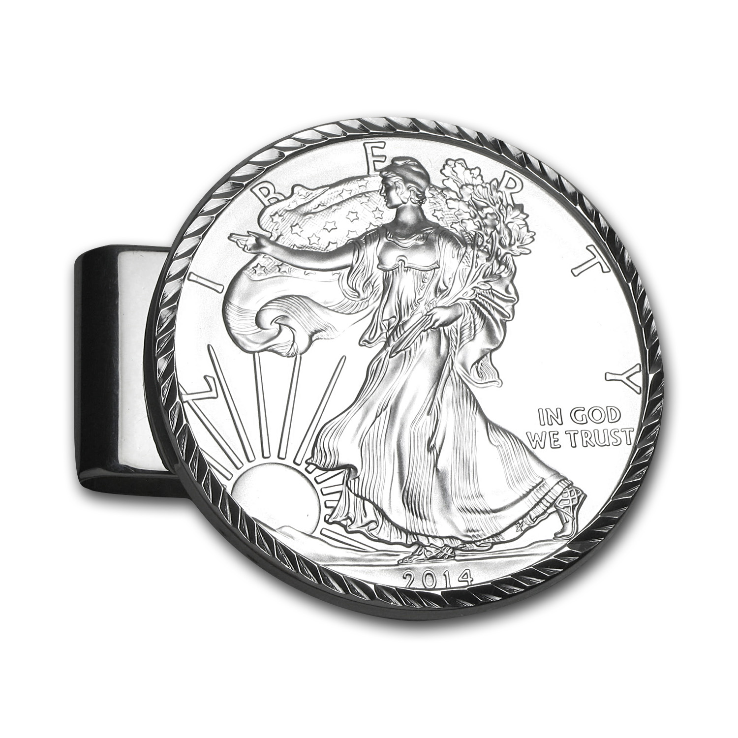 2014 1 oz Silver Eagle Diamond-Cut Money Clip