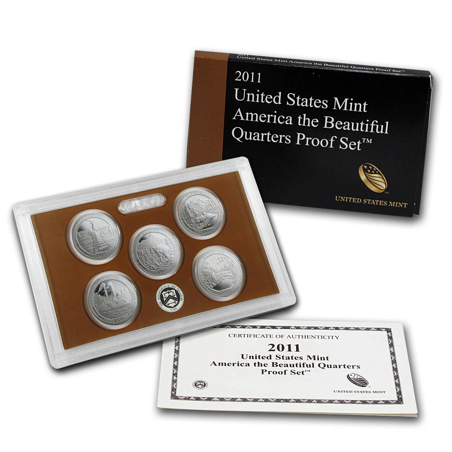 2011 America the Beautiful Quarters Proof Set