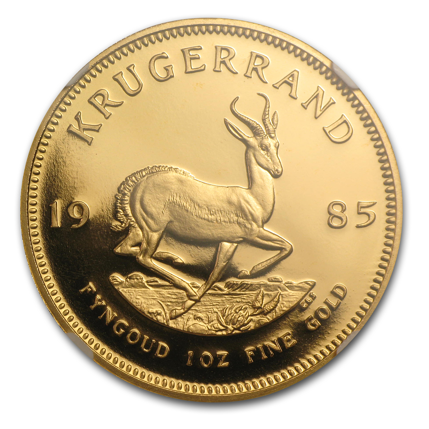 1985 South Africa 1 oz Gold Krugerrand PF-70 NGC