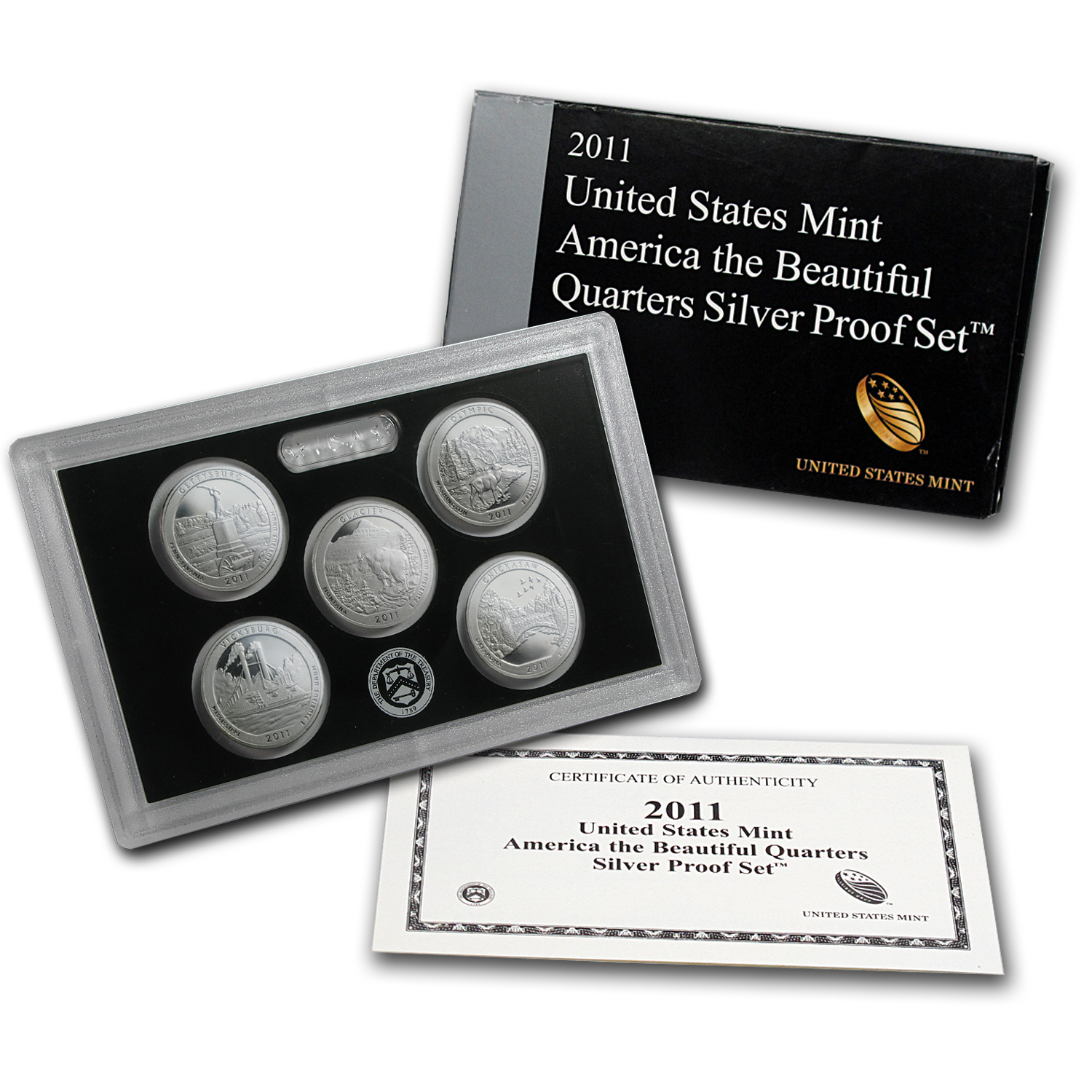 2011 America the Beautiful Quarters Silver Proof Set