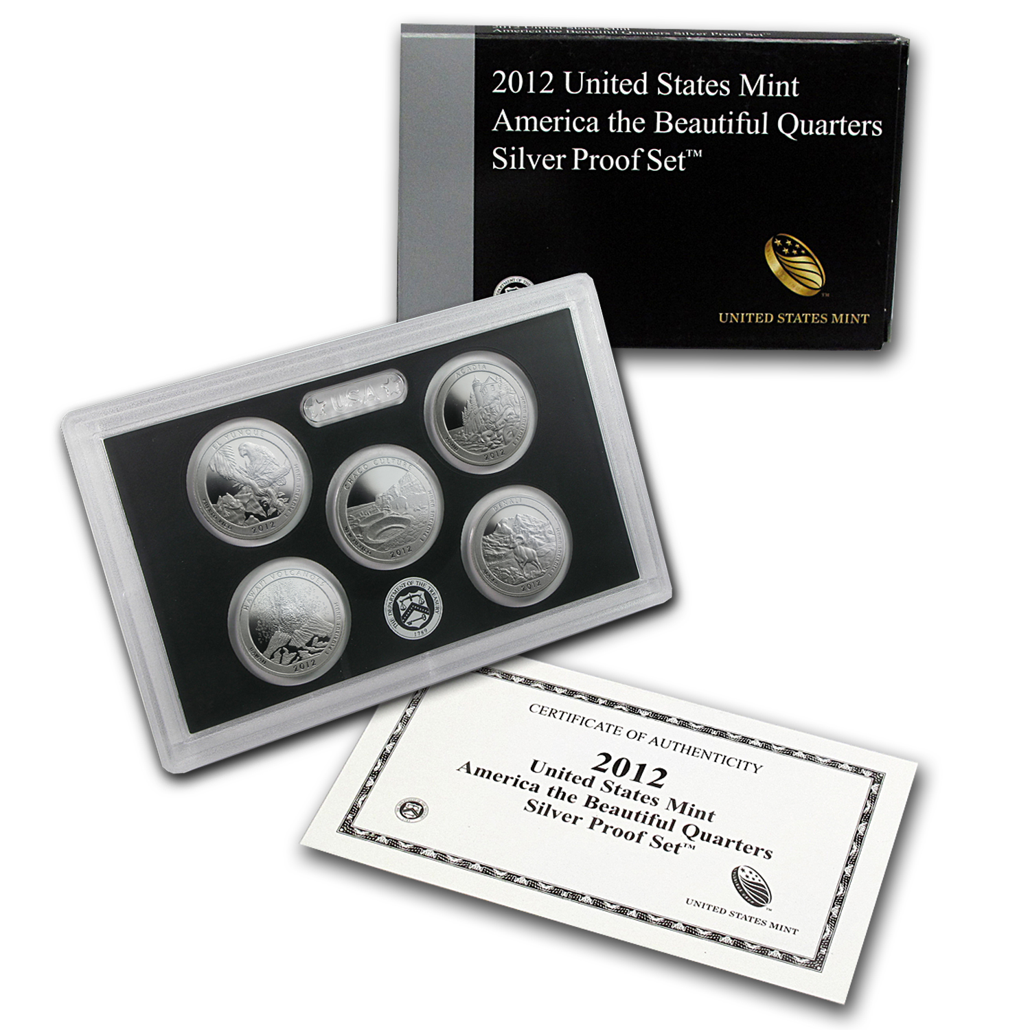 2012 America the Beautiful Quarters Silver Proof Set
