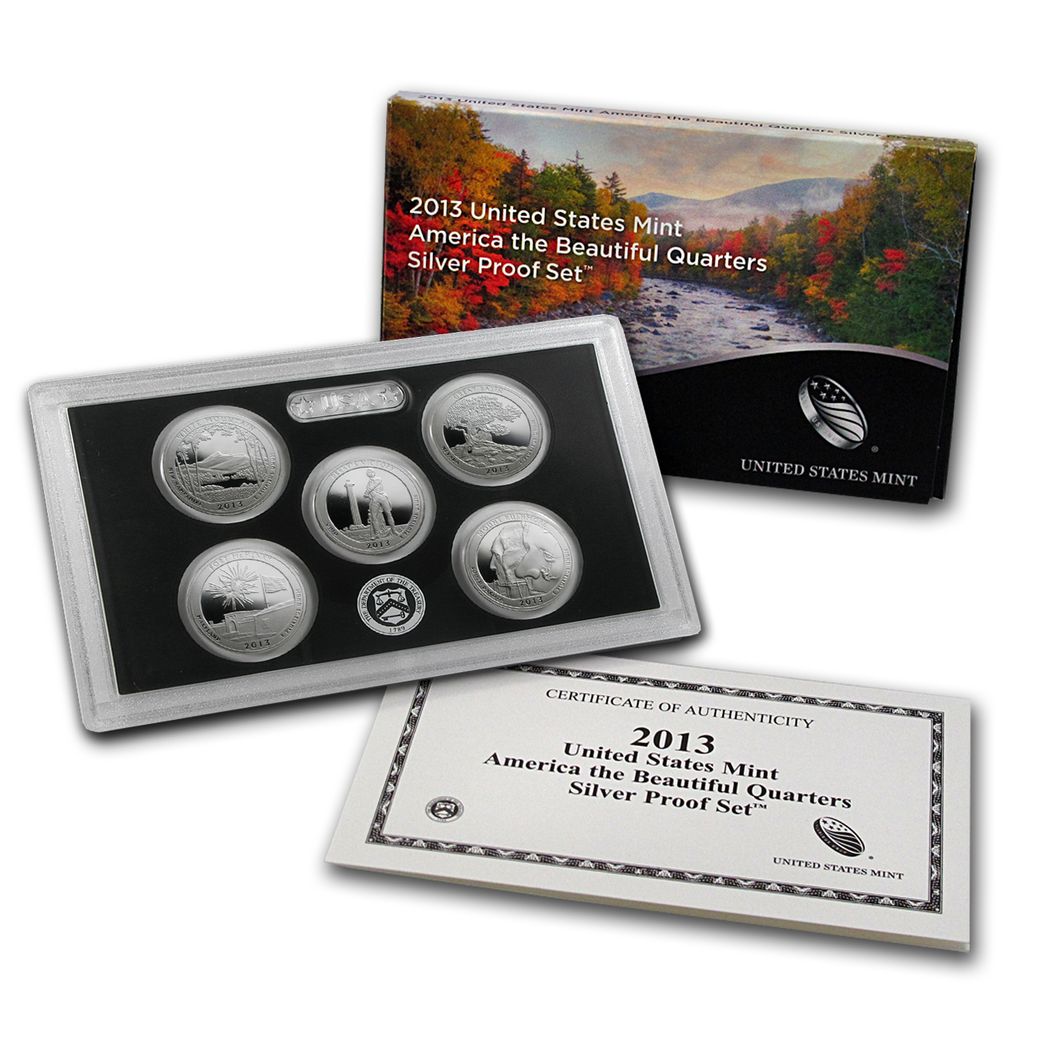 2013 America the Beautiful Quarters Silver Proof Set