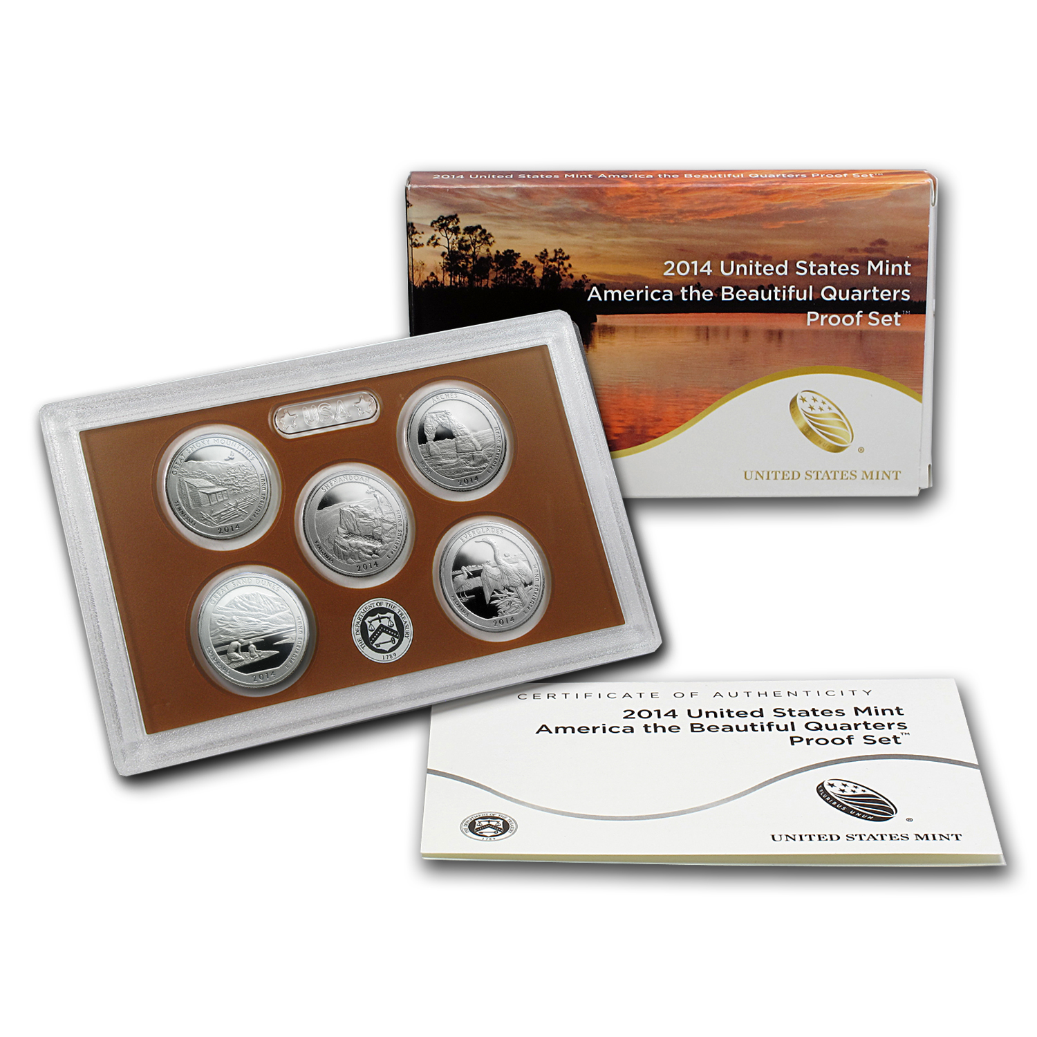 2014 America the Beautiful Proof Set (Quarters Only)