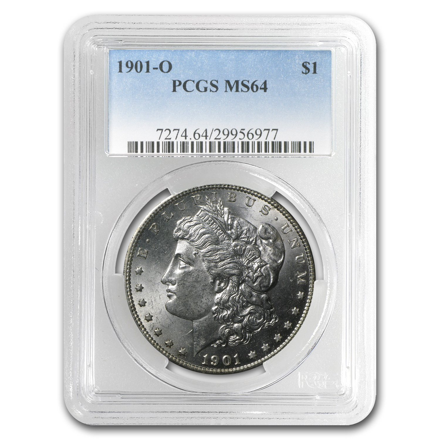 1901-O MS-64 PCGS (VAM-39A, Fish Hook Elite, Clashed Die)