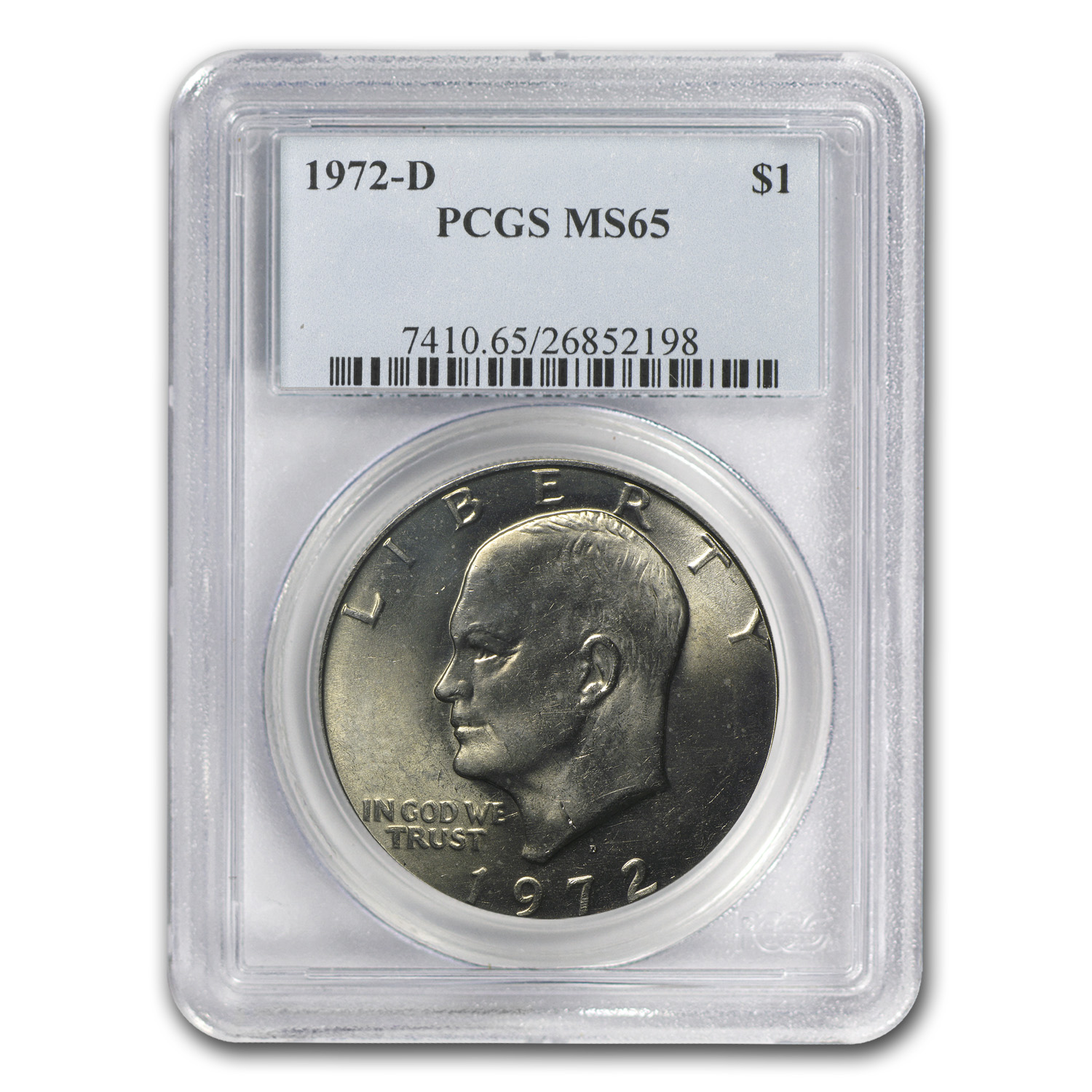 1972-D Eisenhower Dollar MS-65 - PCGS