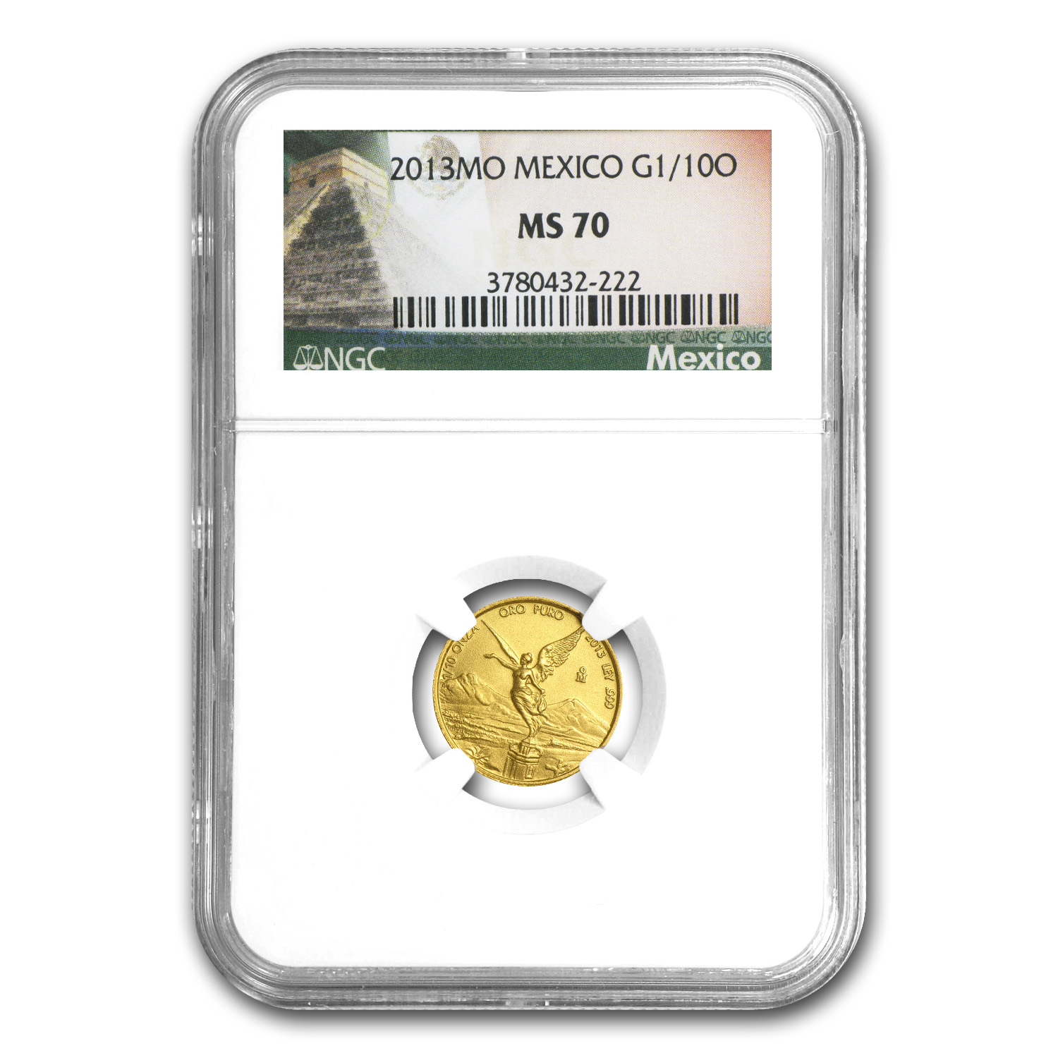 2013 1/10 oz Gold Mexican Libertad MS-70 NGC