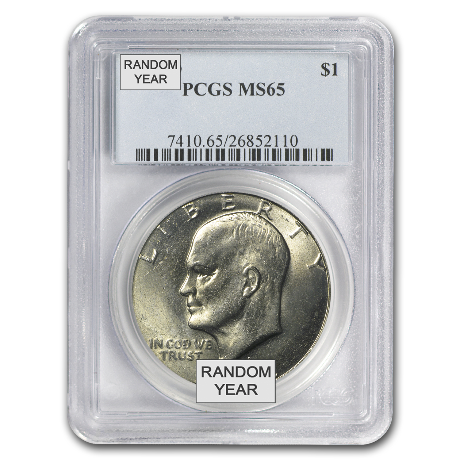 1971-1978 Eisenhower Dollar MS-65 PCGS (Random Year)