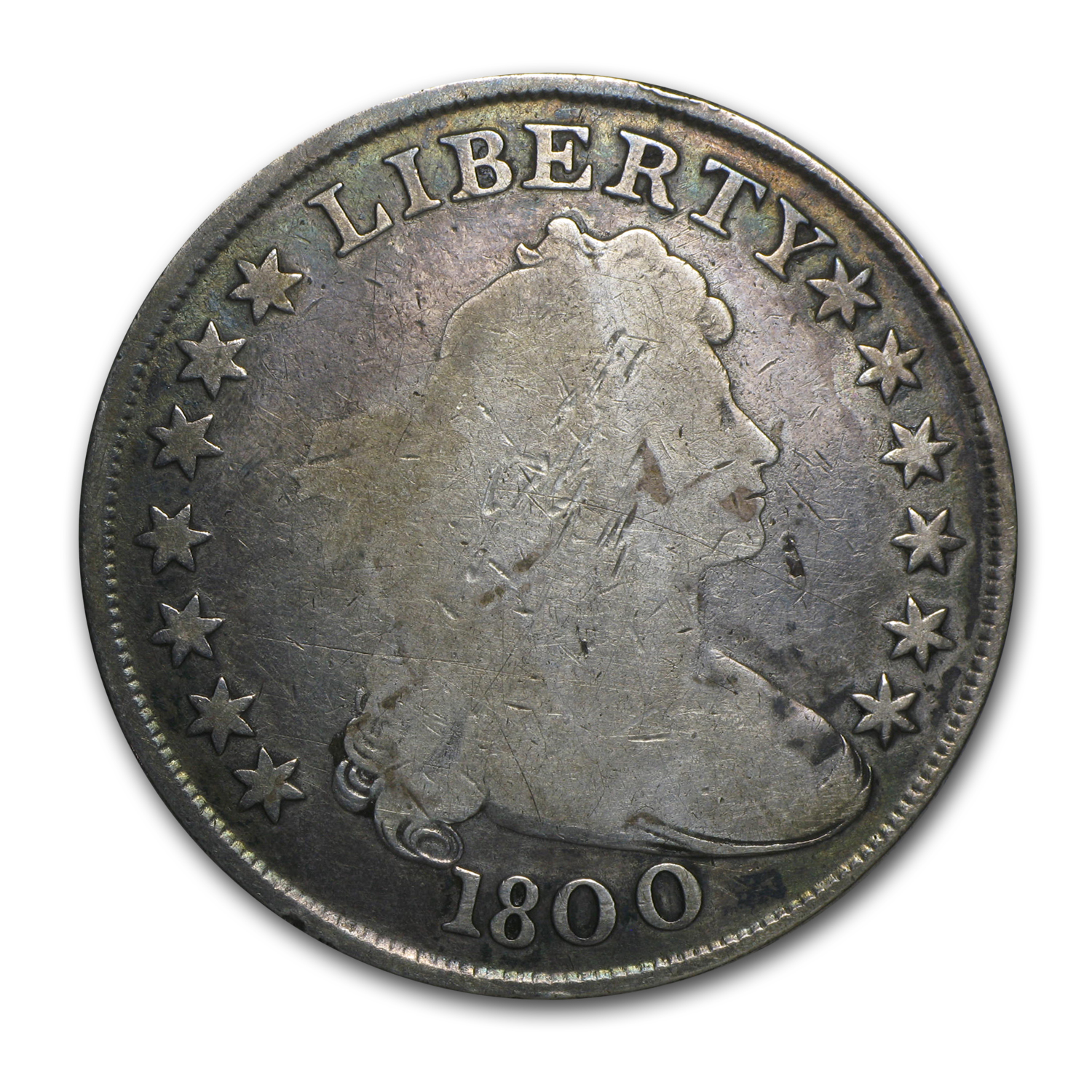 1800 Draped Bust Dollar - Good Details - Scratched