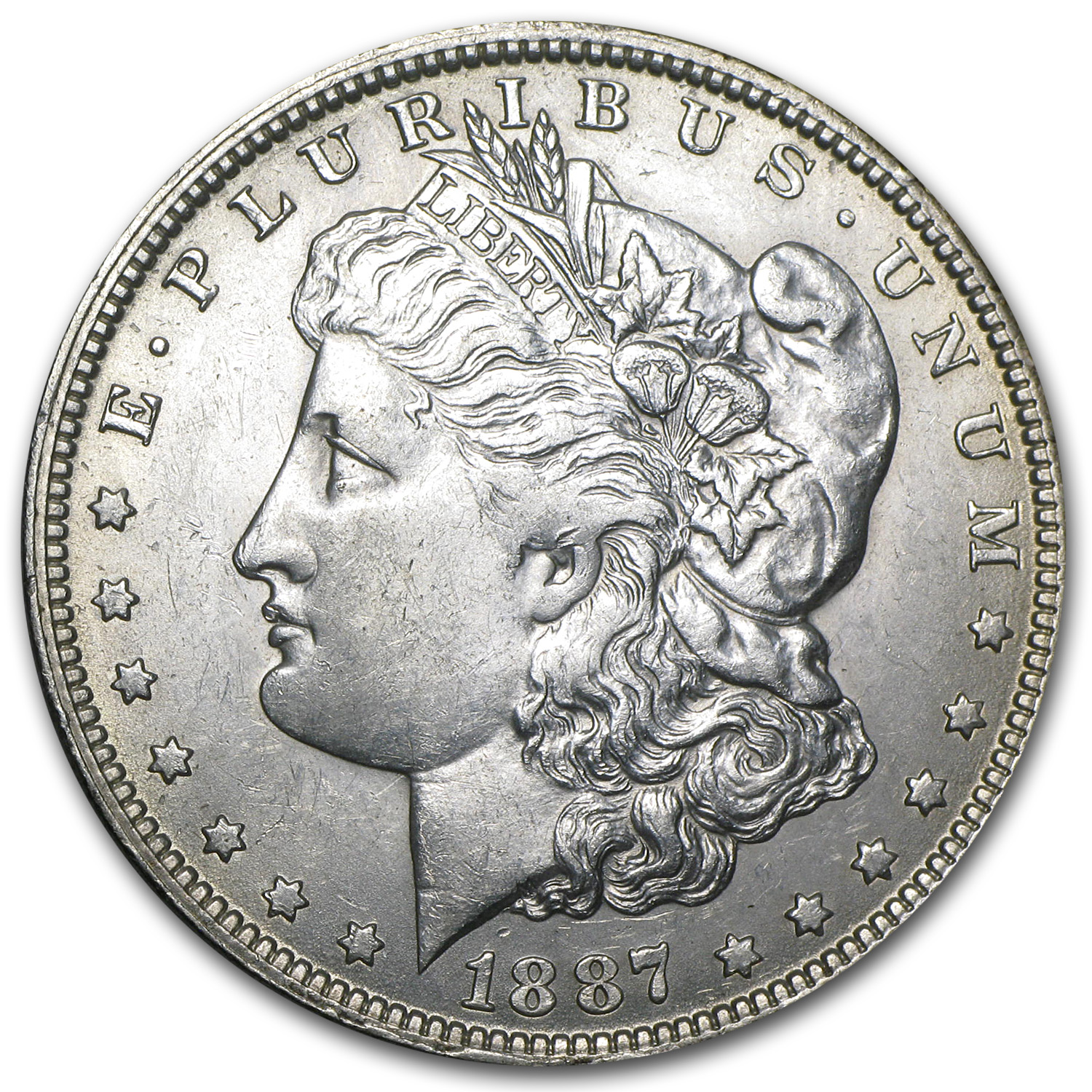 1887-O Morgan Dollar AU-55 (VAM-22B, Pitted Rev, Top-100)