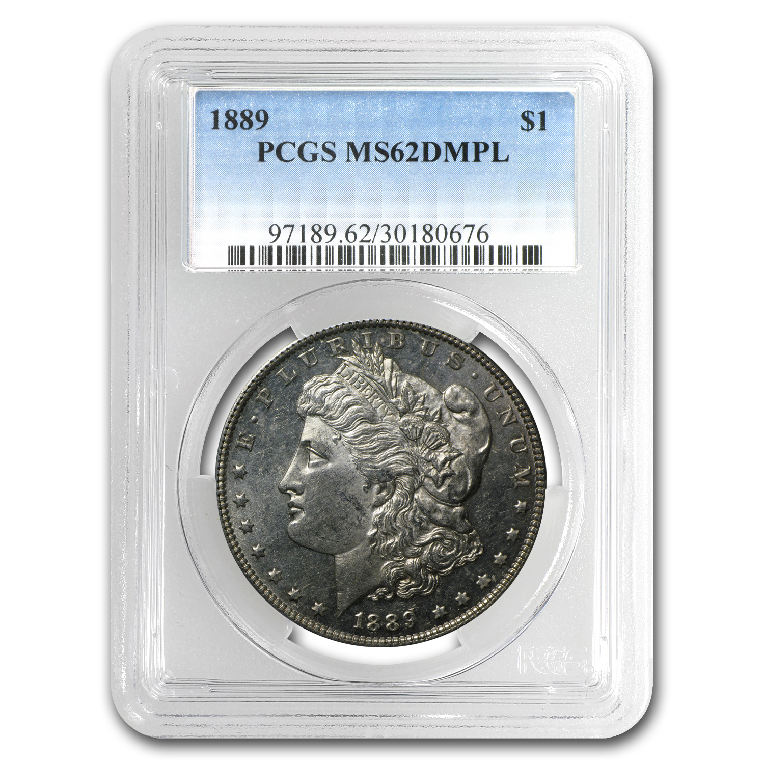 1878-1904 Morgan Dollars MS-62 PCGS (DMPL, Random Year)