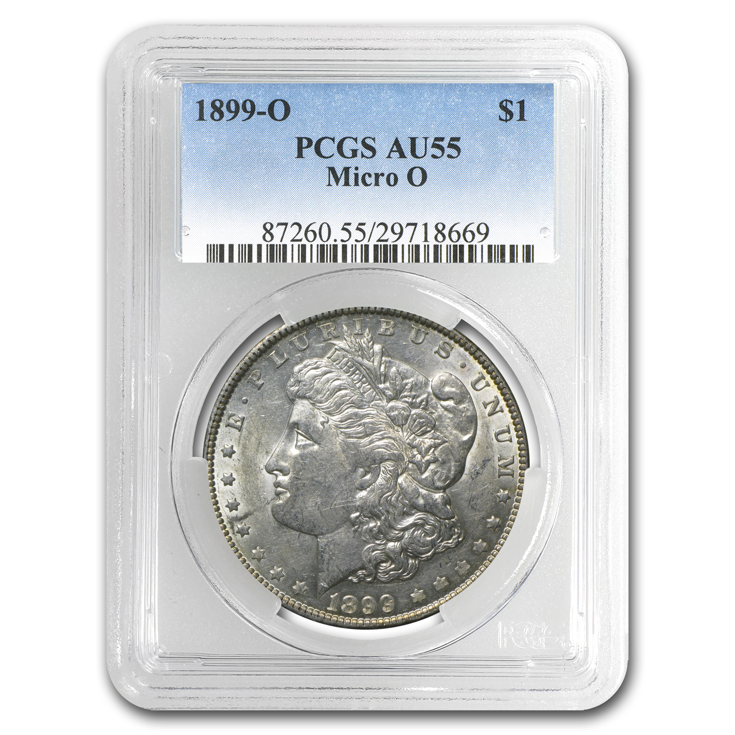 1899-O Morgan Dollar AU-55 PCGS (Micro O, Top-100)