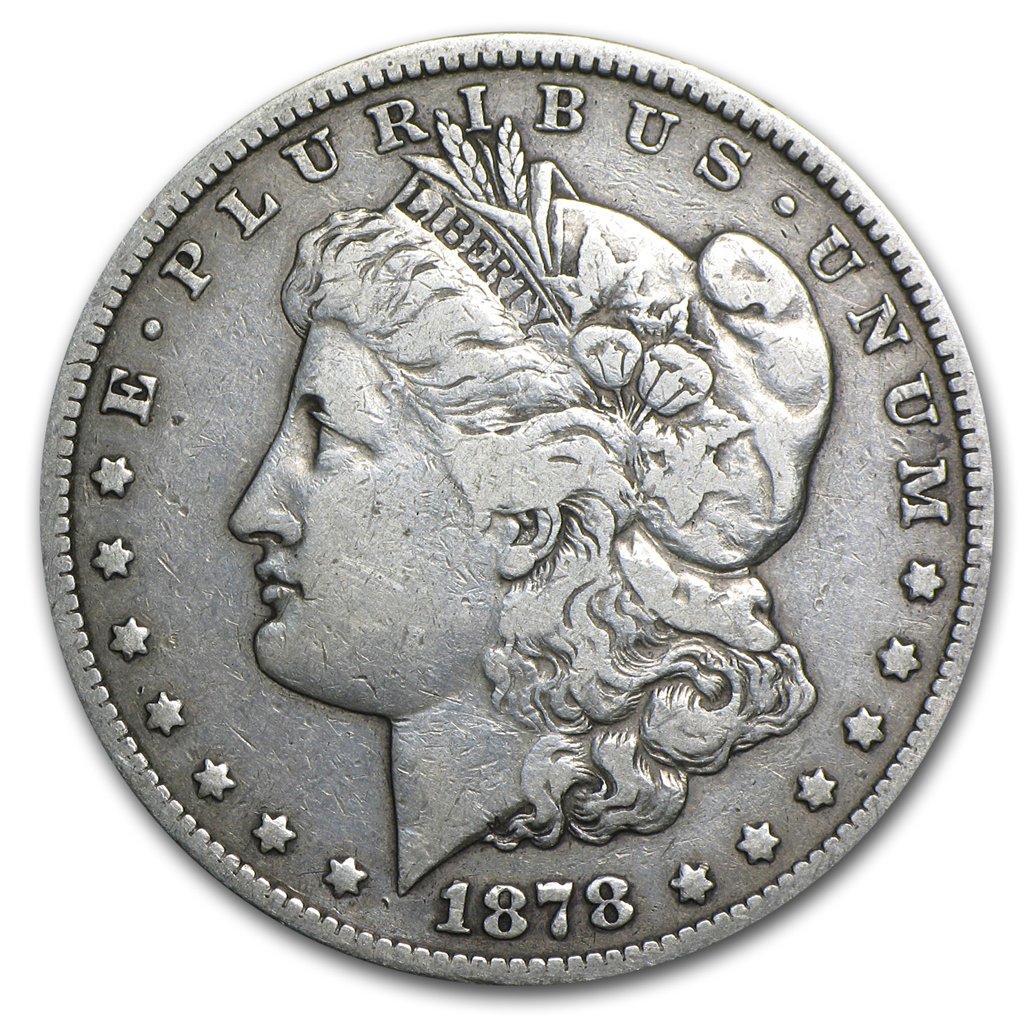 1878-S Morgan Dollar - Very Fine - VAM-27 Long Nock Top-100