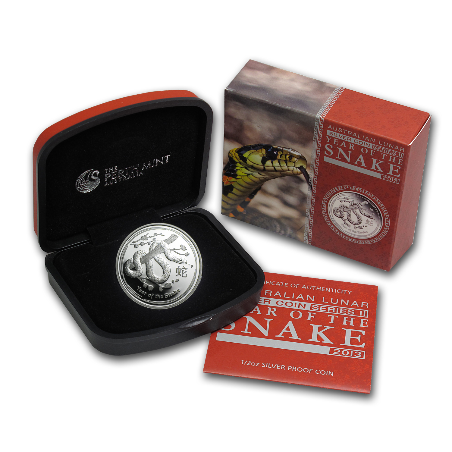 2013 Australia 1/2 oz Silver Year of the Snake Proof