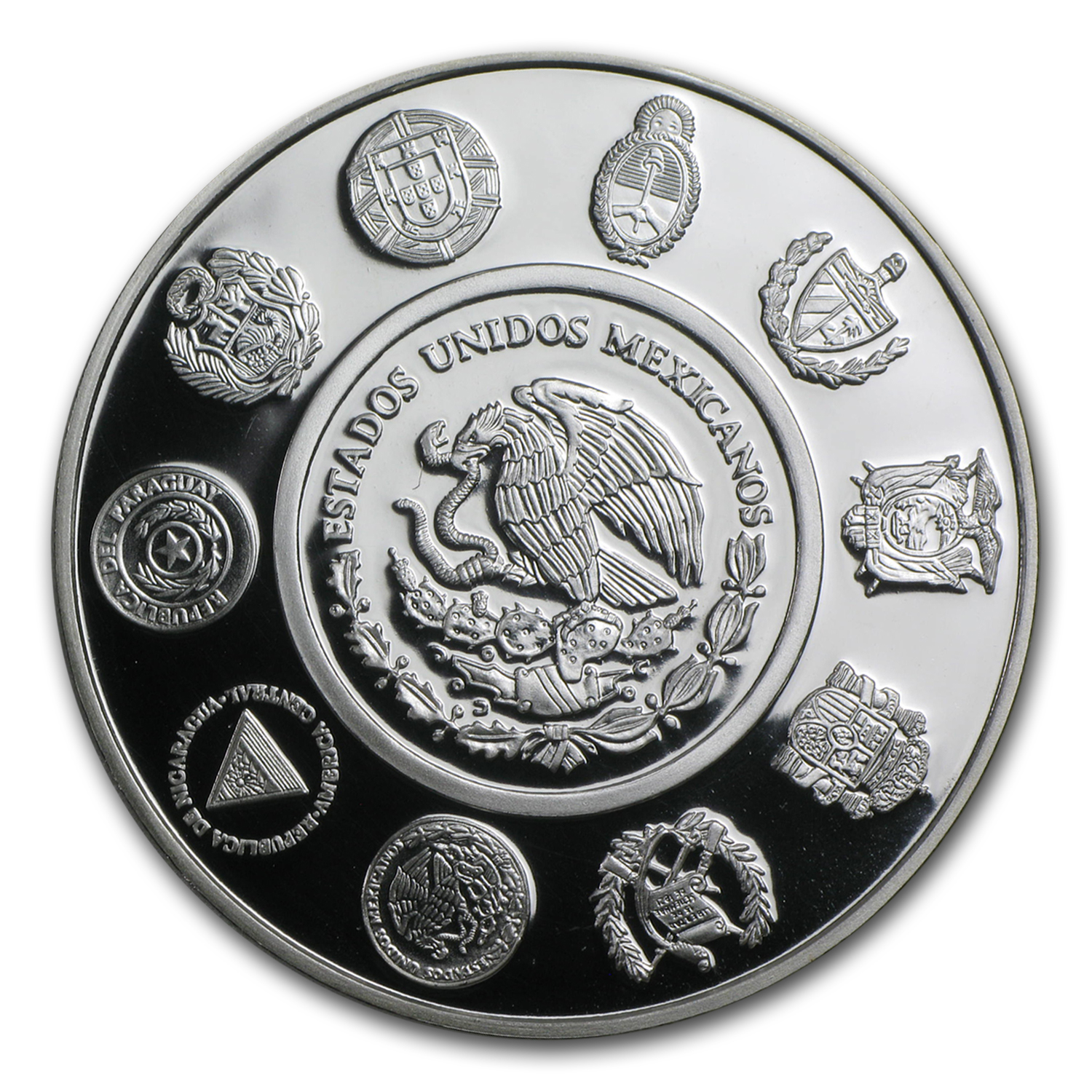 2003 $5 Acapulco Galleon Mexican Silver Peso Proof