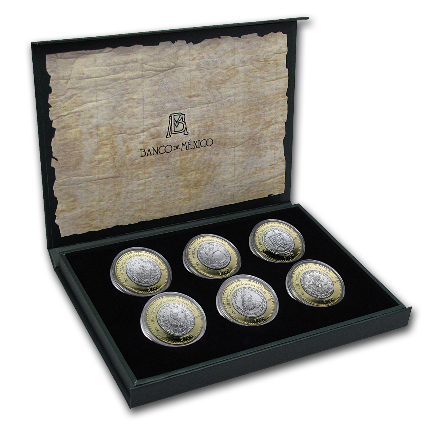2014 Mexico 6-Coin Silver Numismatic Heritage Set (Series IV)