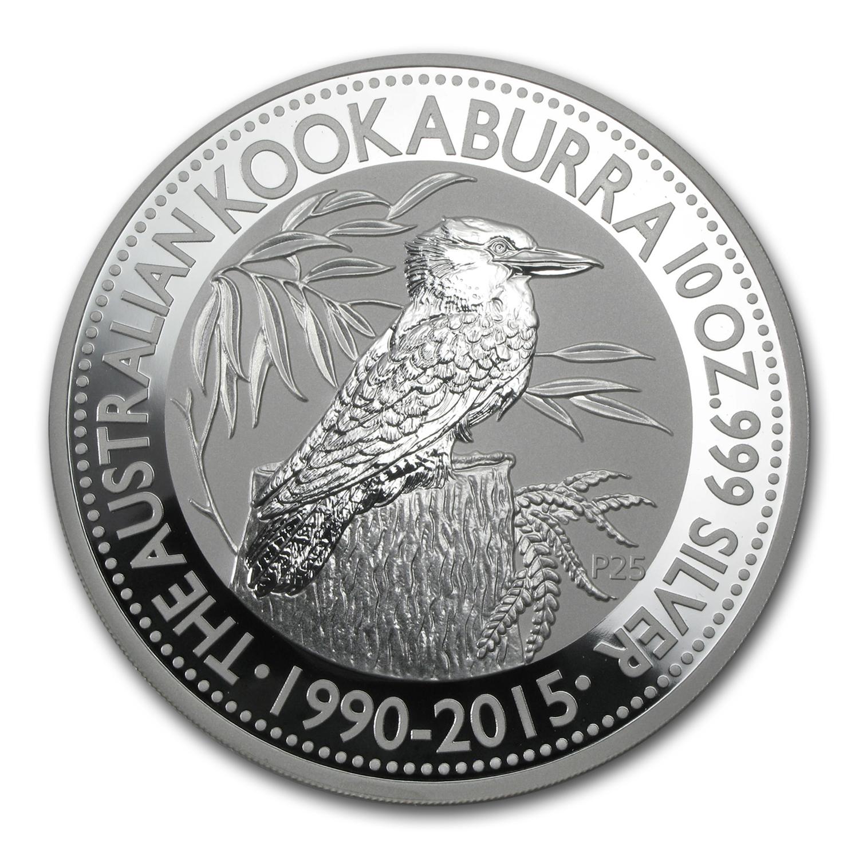 2015 Australia 10 Oz Silver Kookaburra Bu Perth Mint