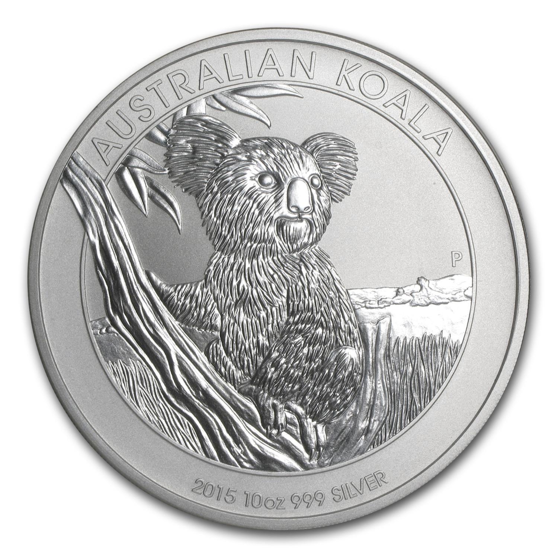 2015 Australia 10 Oz Silver Koala Bu Perth Mint Koala