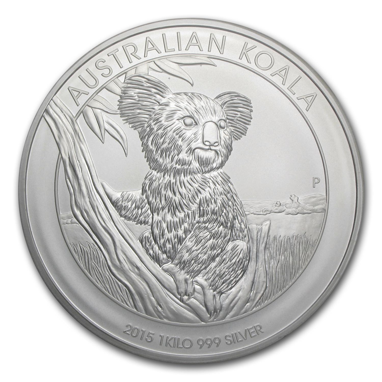 Kilo Silvers: 2015 Australia 1 Kilo Silver Koala BU
