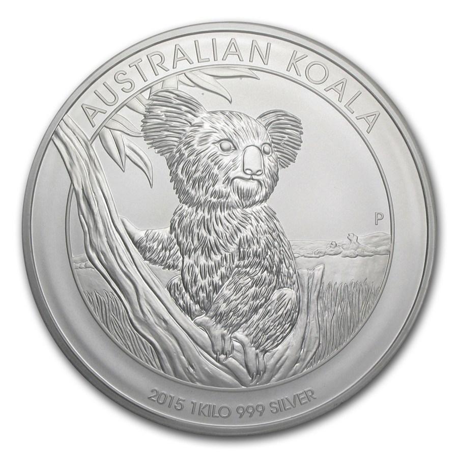 2015 Australia 1 Kilo Silver Koala Bu Perth Mint Koala