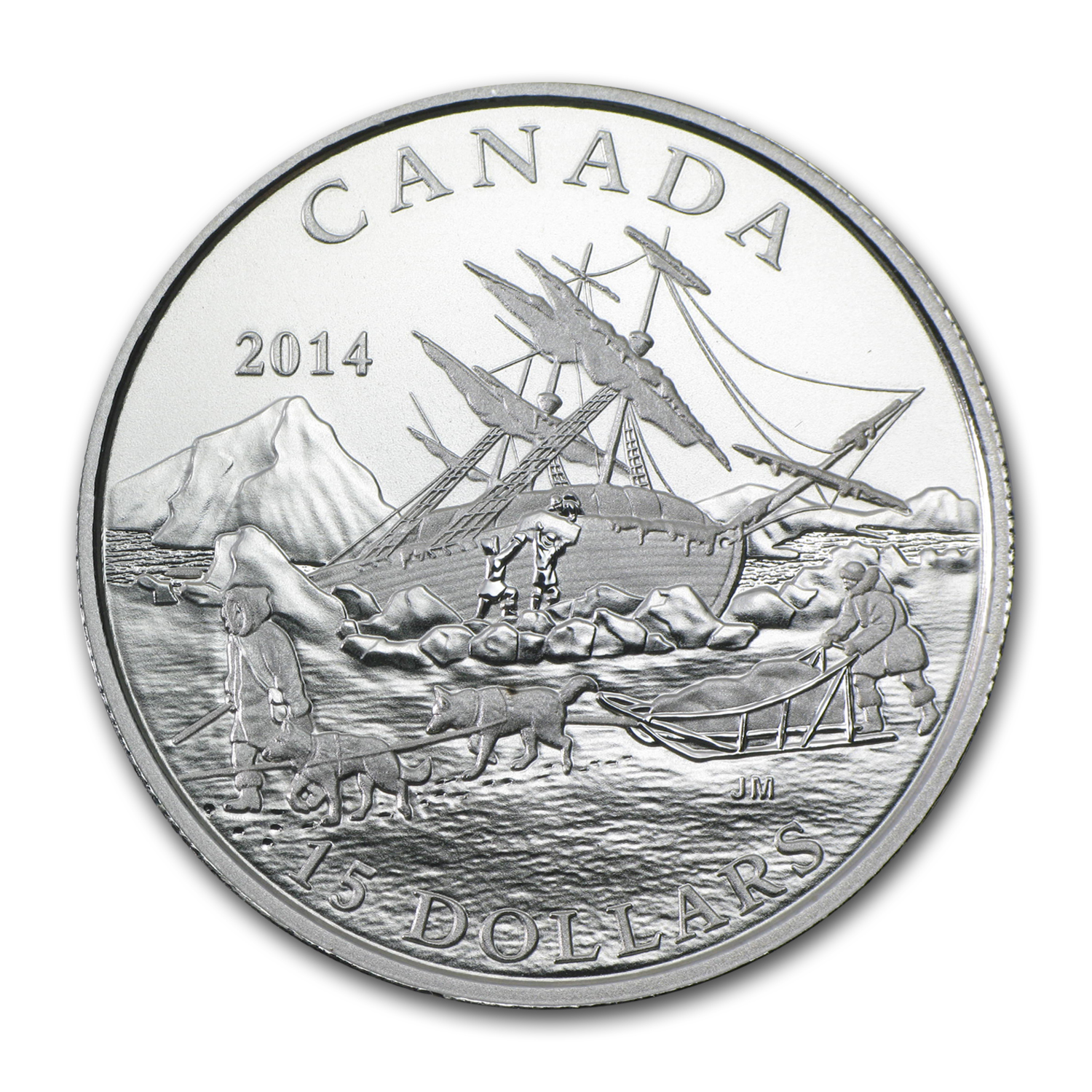 2014 Canada Silver $15 Exploring Canada The Arctic Expedition